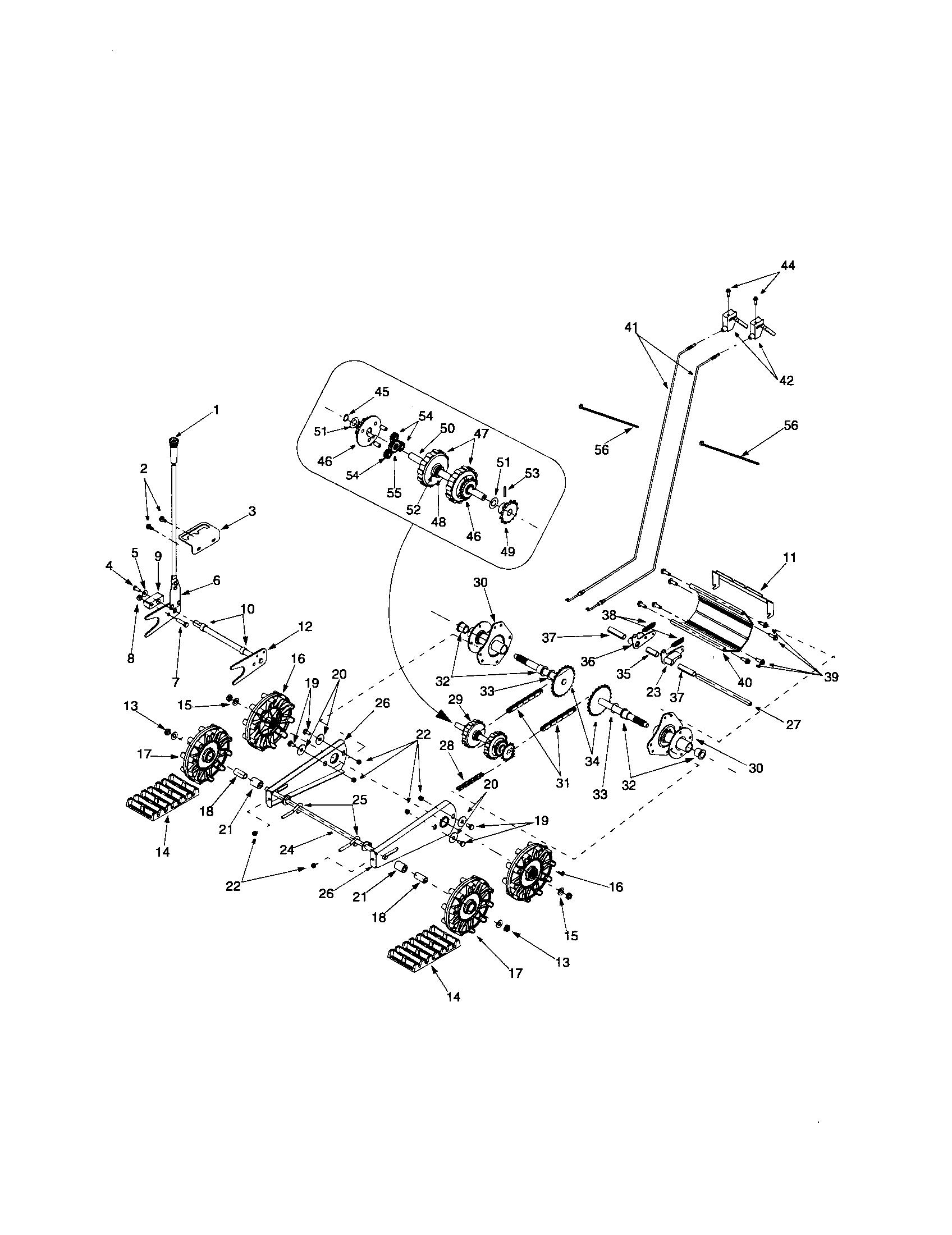 Troybilt model 1130 snowthrower, gas genuine parts