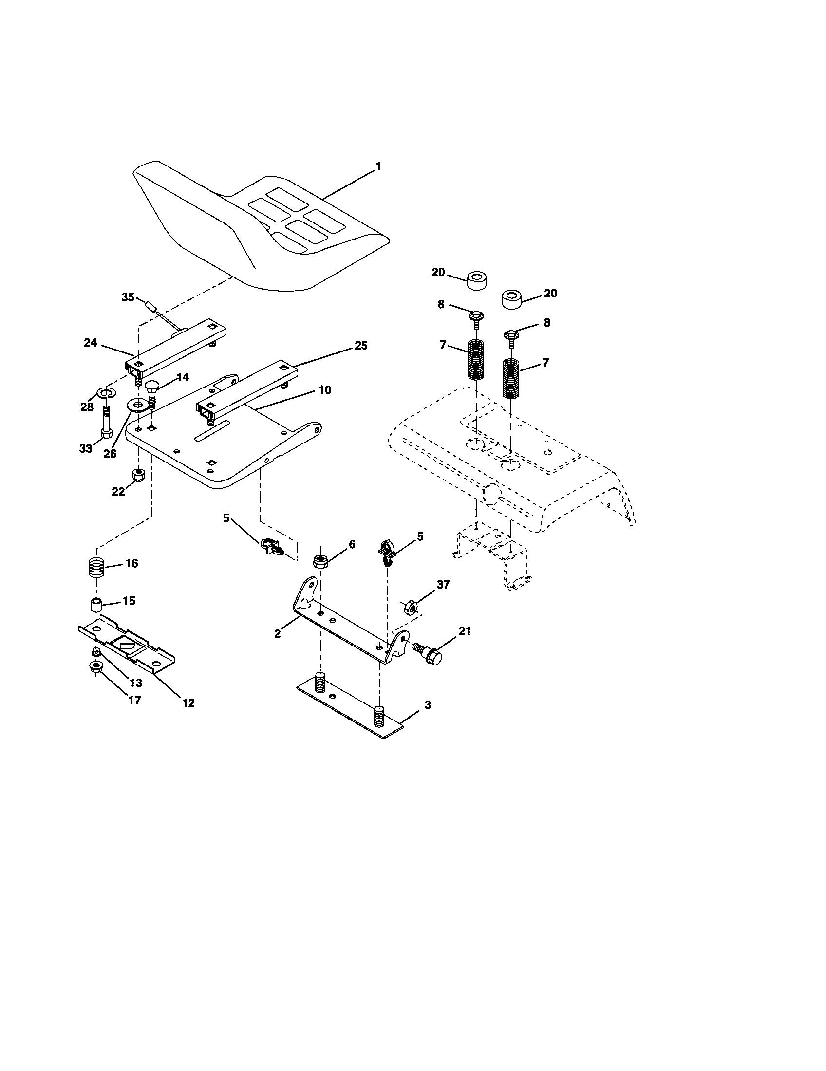 Husqvarna model GTH2654 lawn, tractor genuine parts