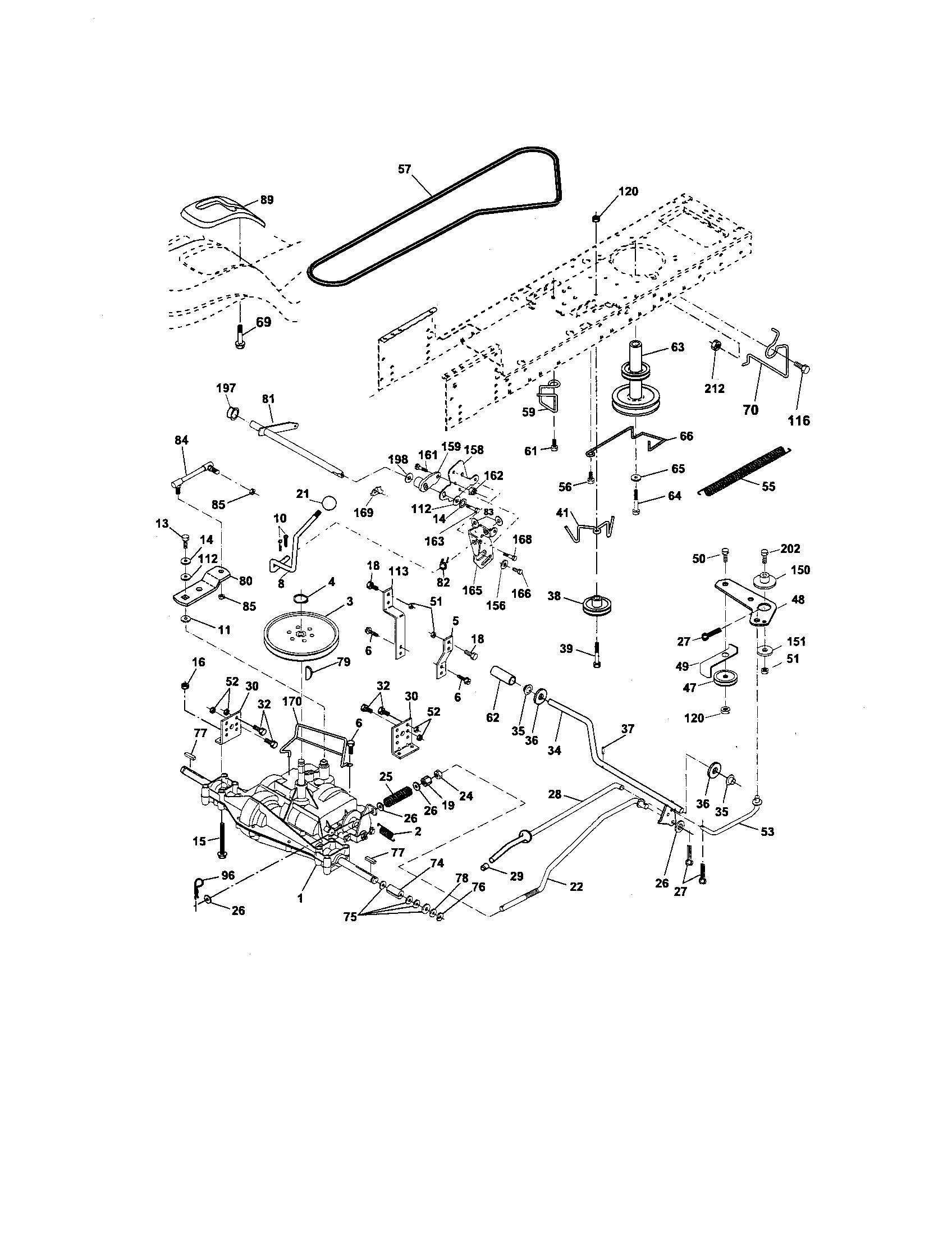 Engine Diagram For Craftsman Lt2000 Craftsman Mower Engine
