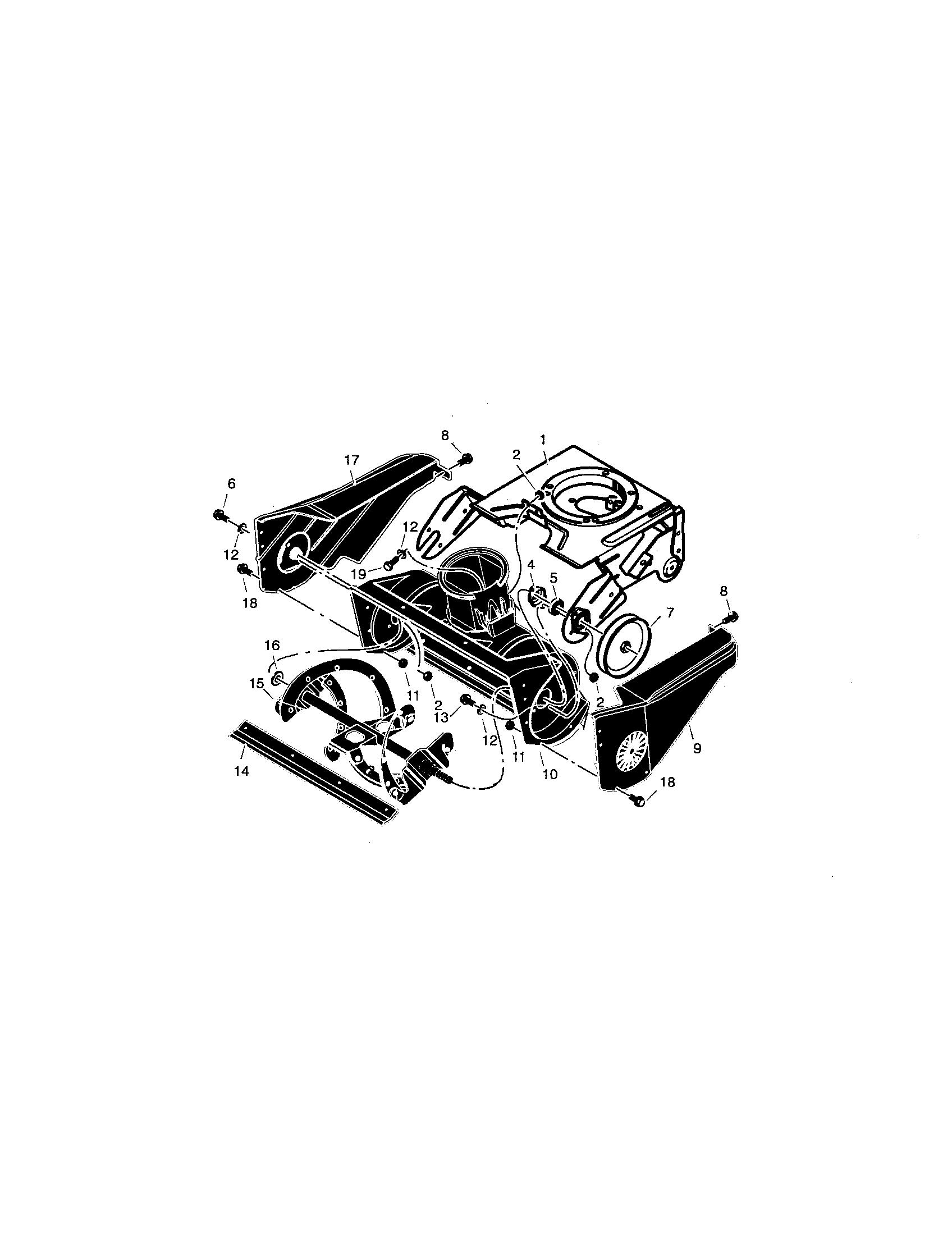 Craftsman model 536881400 snowthrower, gas genuine parts