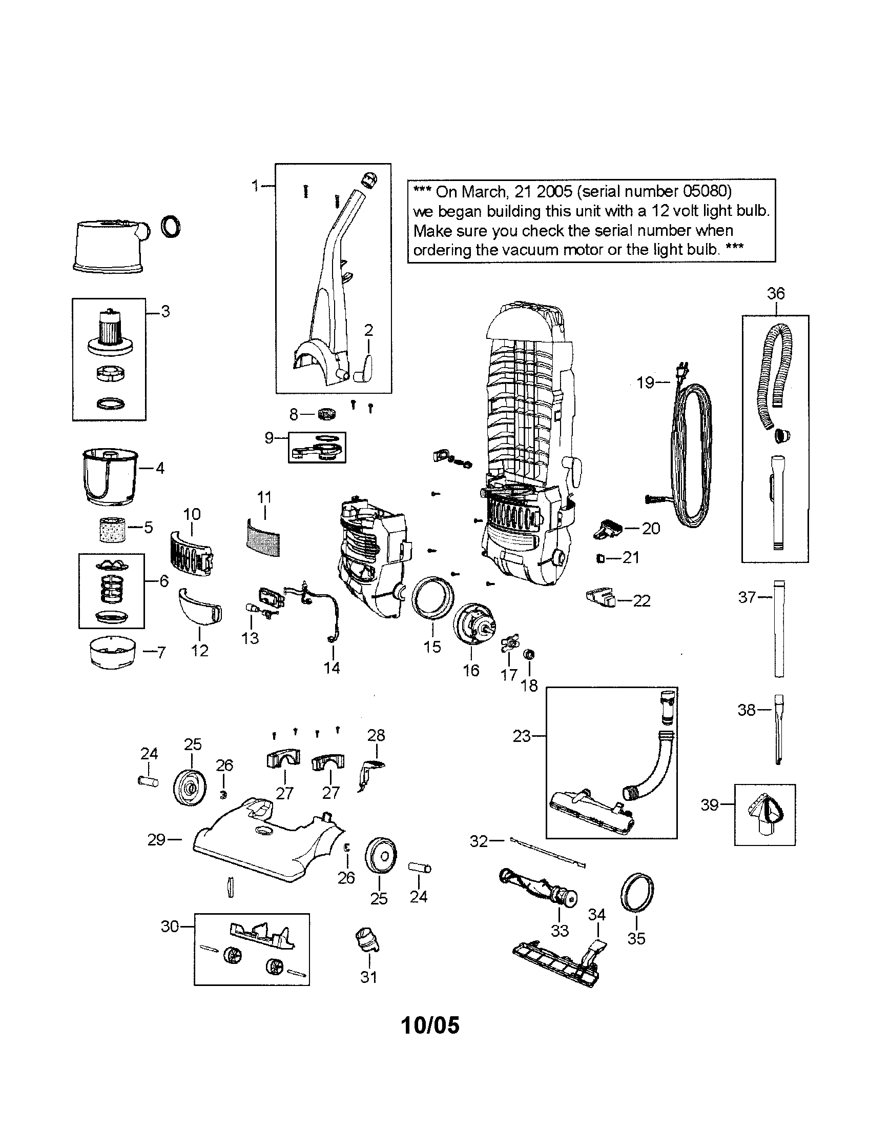 Bissell model 6594-W vacuum, upright genuine parts