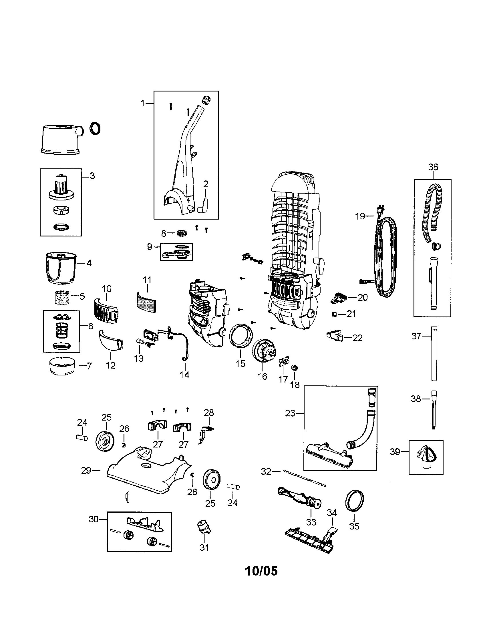 Bissell model 6594 vacuum, upright genuine parts