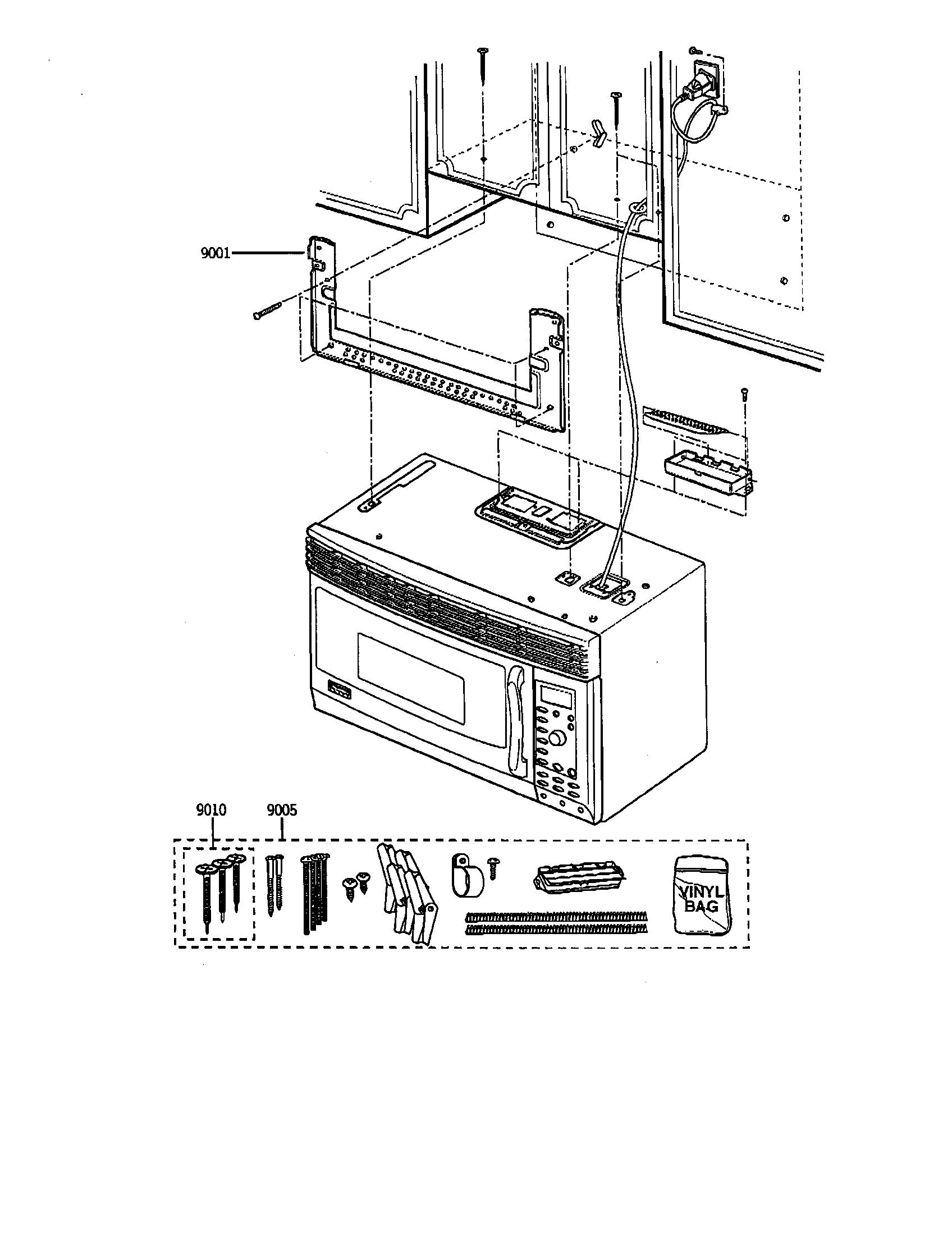 Kenmore-Elite model 36363679201 microwave/hood combo