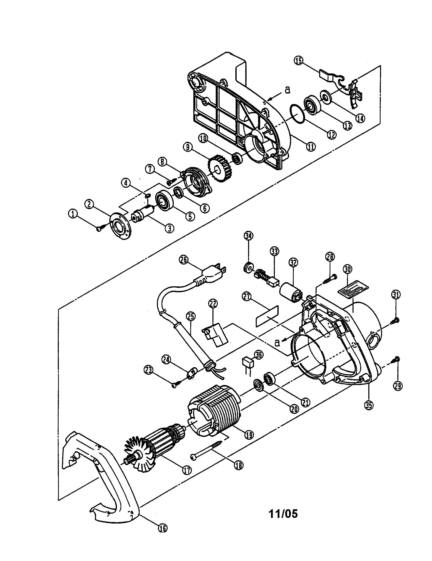 Ryobi model TSS-220 miter saw genuine parts