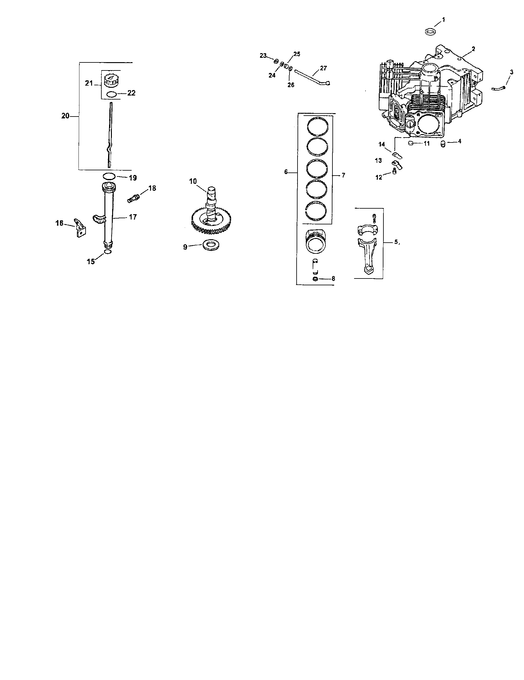 Kohler model CV730-0029 engine genuine parts