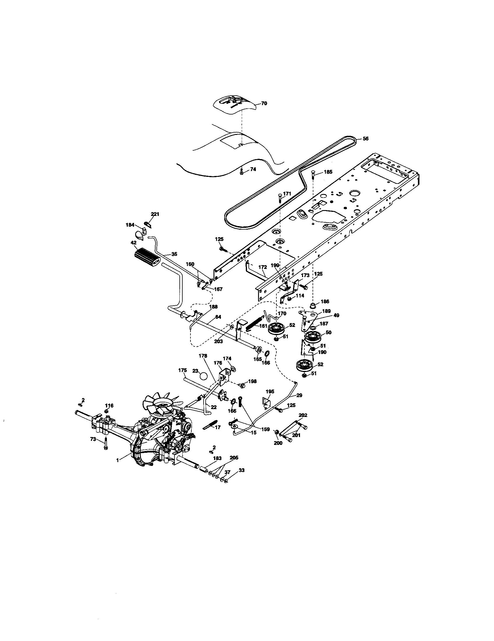Craftsman model 917276600 lawn, tractor genuine parts