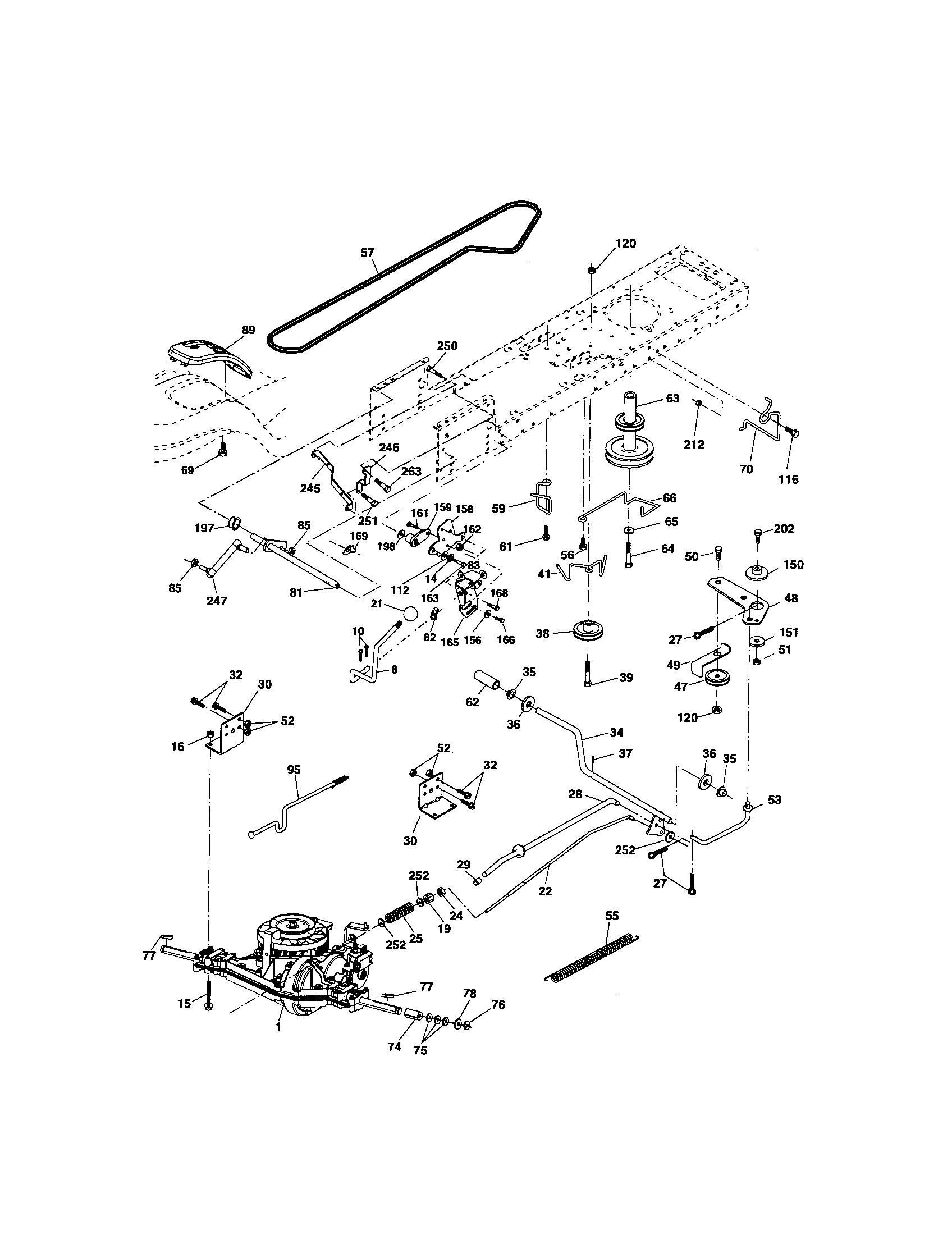 Craftsman model 917276824 lawn, tractor genuine parts