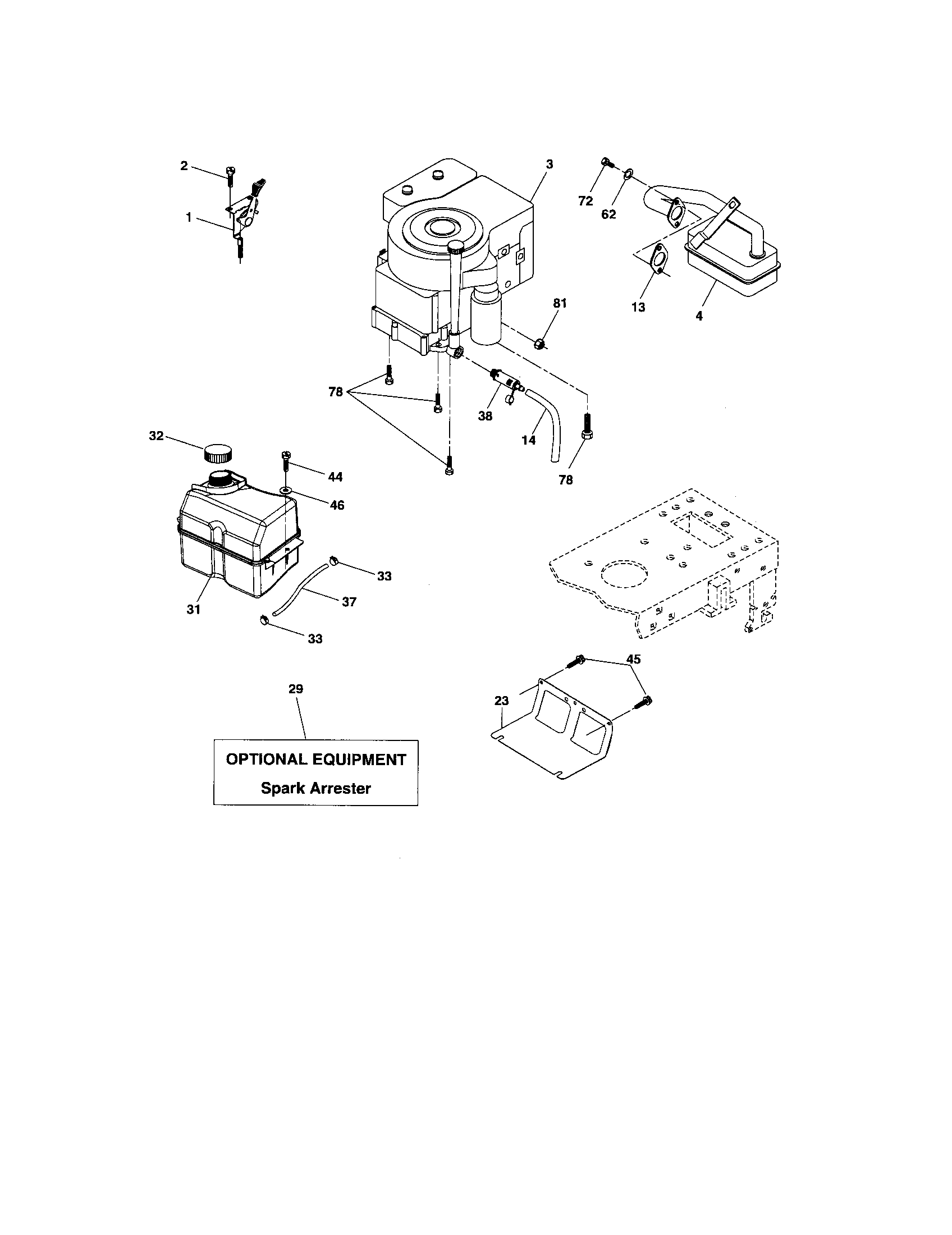 Craftsman model 917276826 lawn, tractor genuine parts