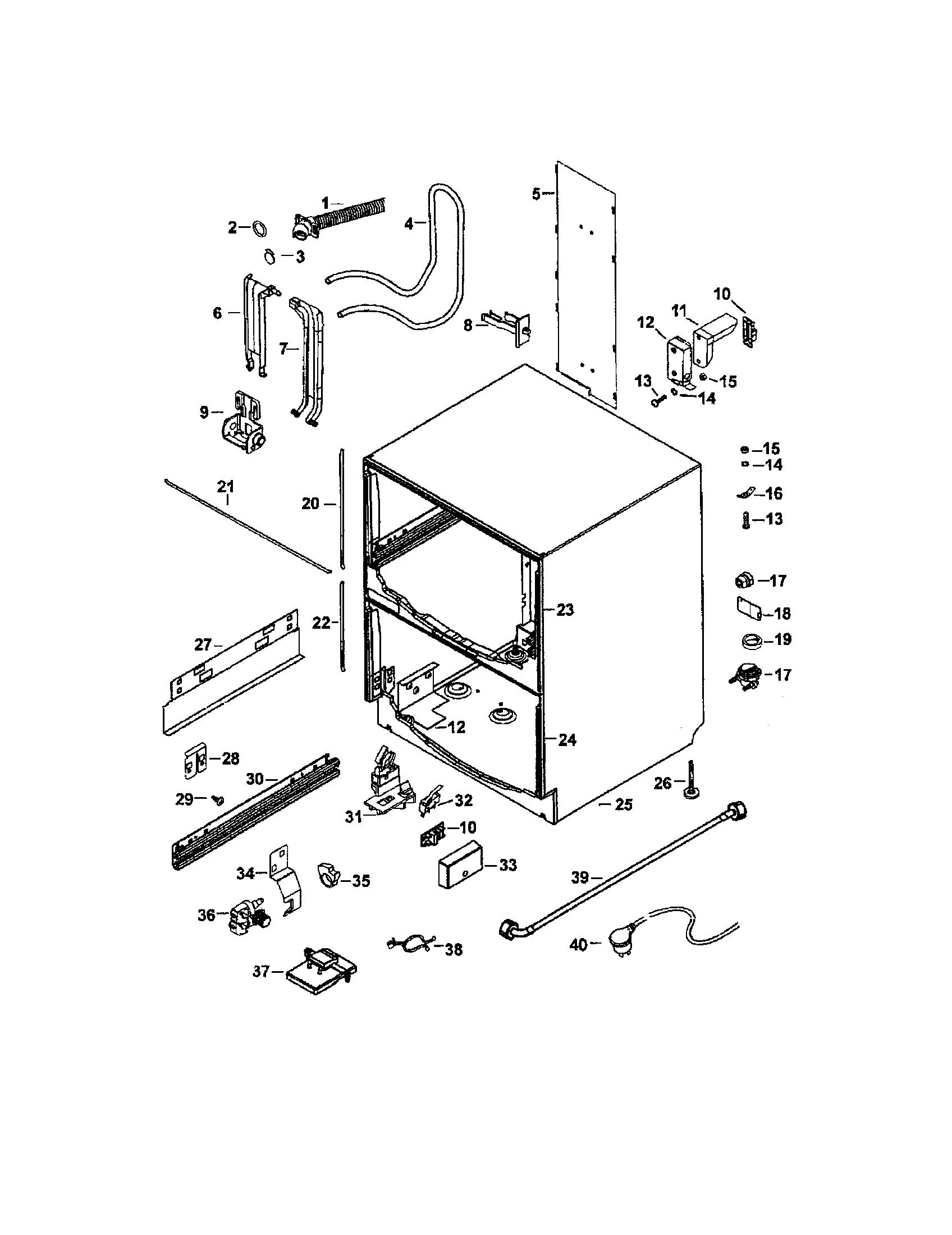 Fisher-Paykel model DD602 dishwasher genuine parts