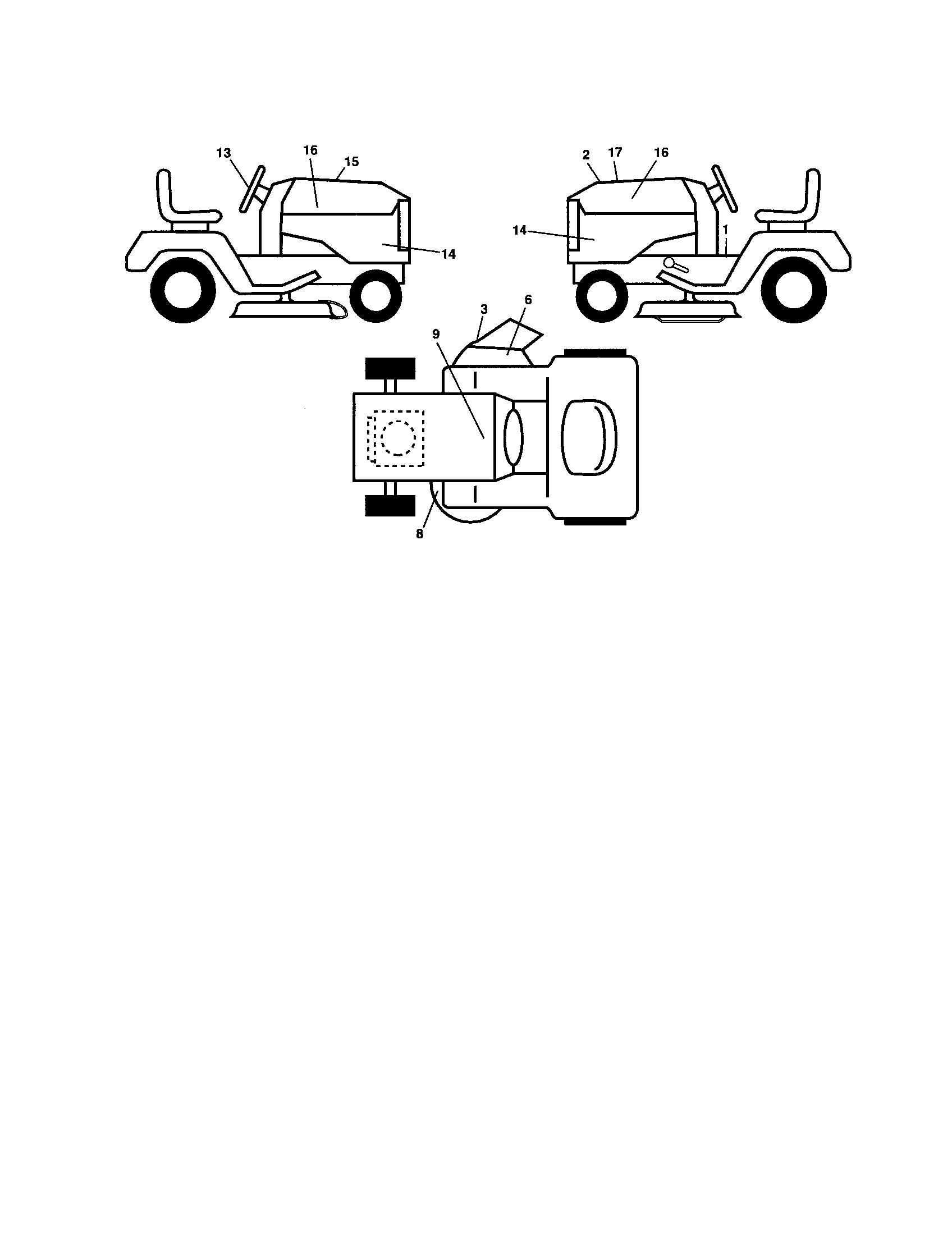 Husqvarna model YTH20F42T lawn, tractor genuine parts