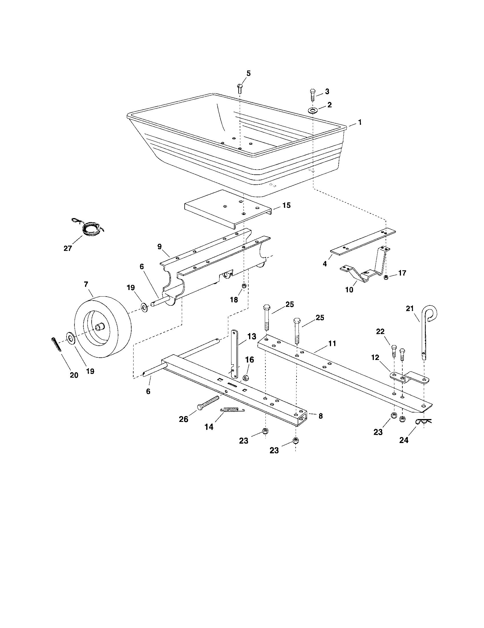 Craftsman model 48624507 lawn vacuum genuine parts
