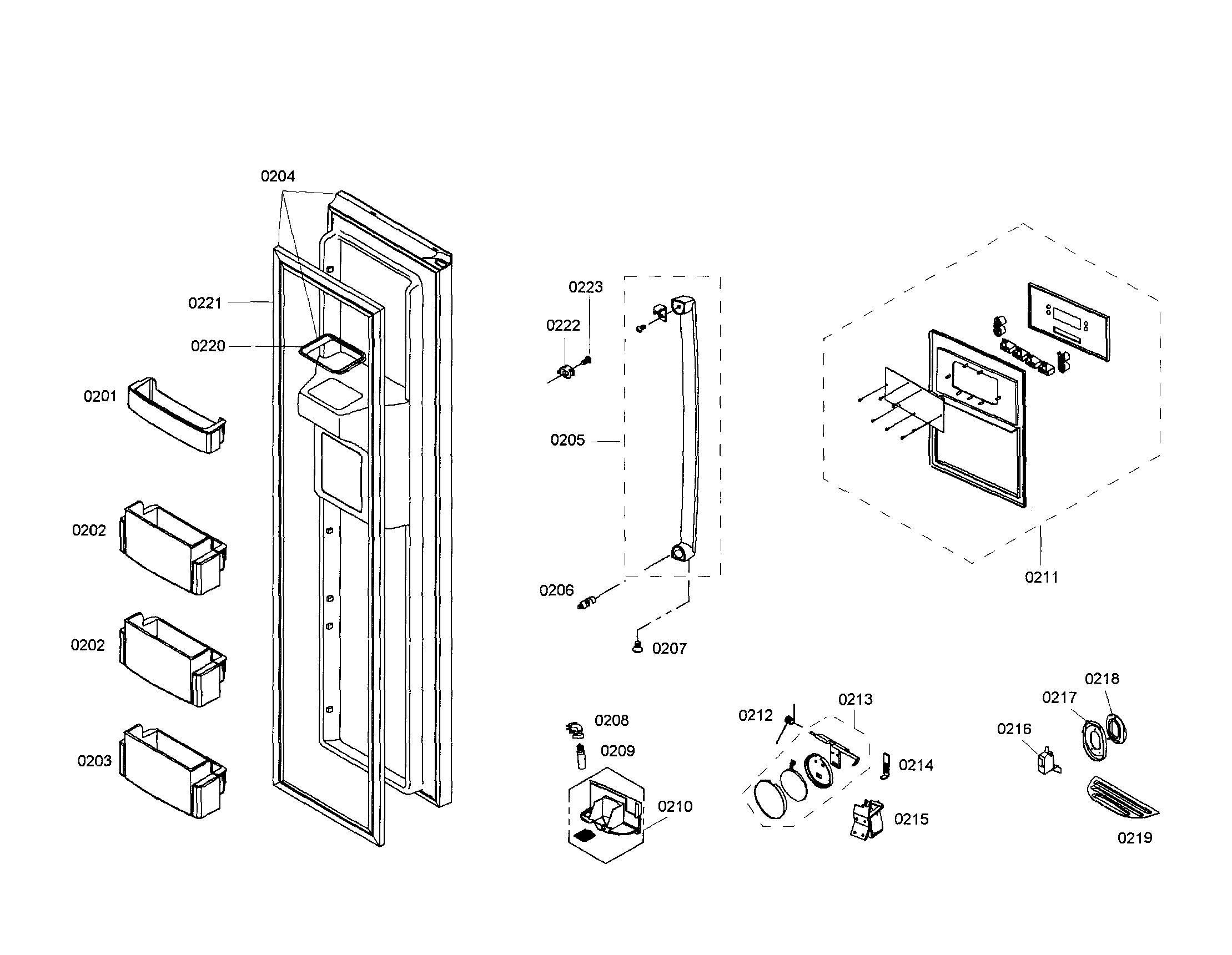 Bosch model B20CS50SNI/01 side-by-side refrigerator