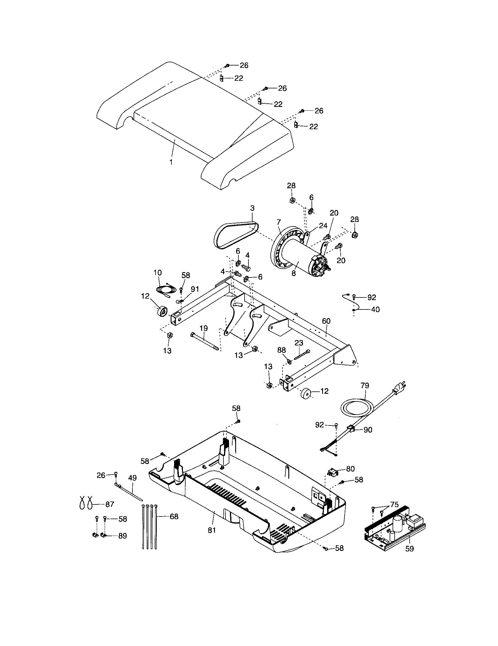Proform model 831246330 treadmill genuine parts