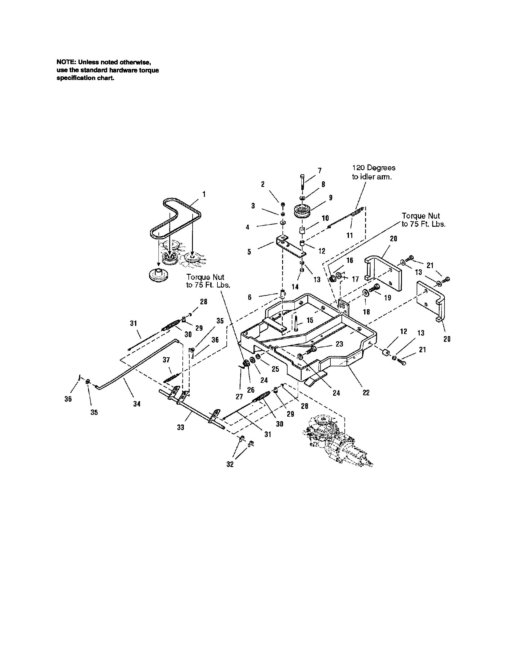 Craftsman model 107277700 lawn, riding mower rear engine