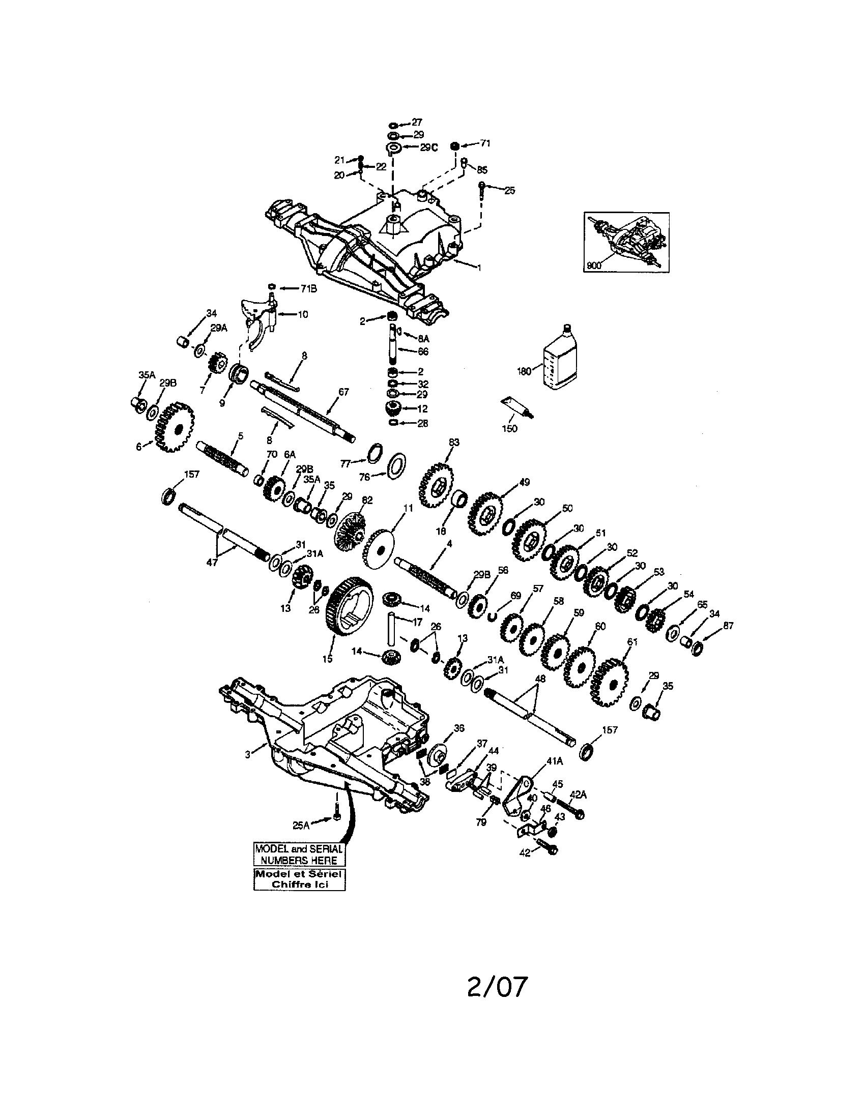Peerless model 206-545C transaxle/transmission, tractor