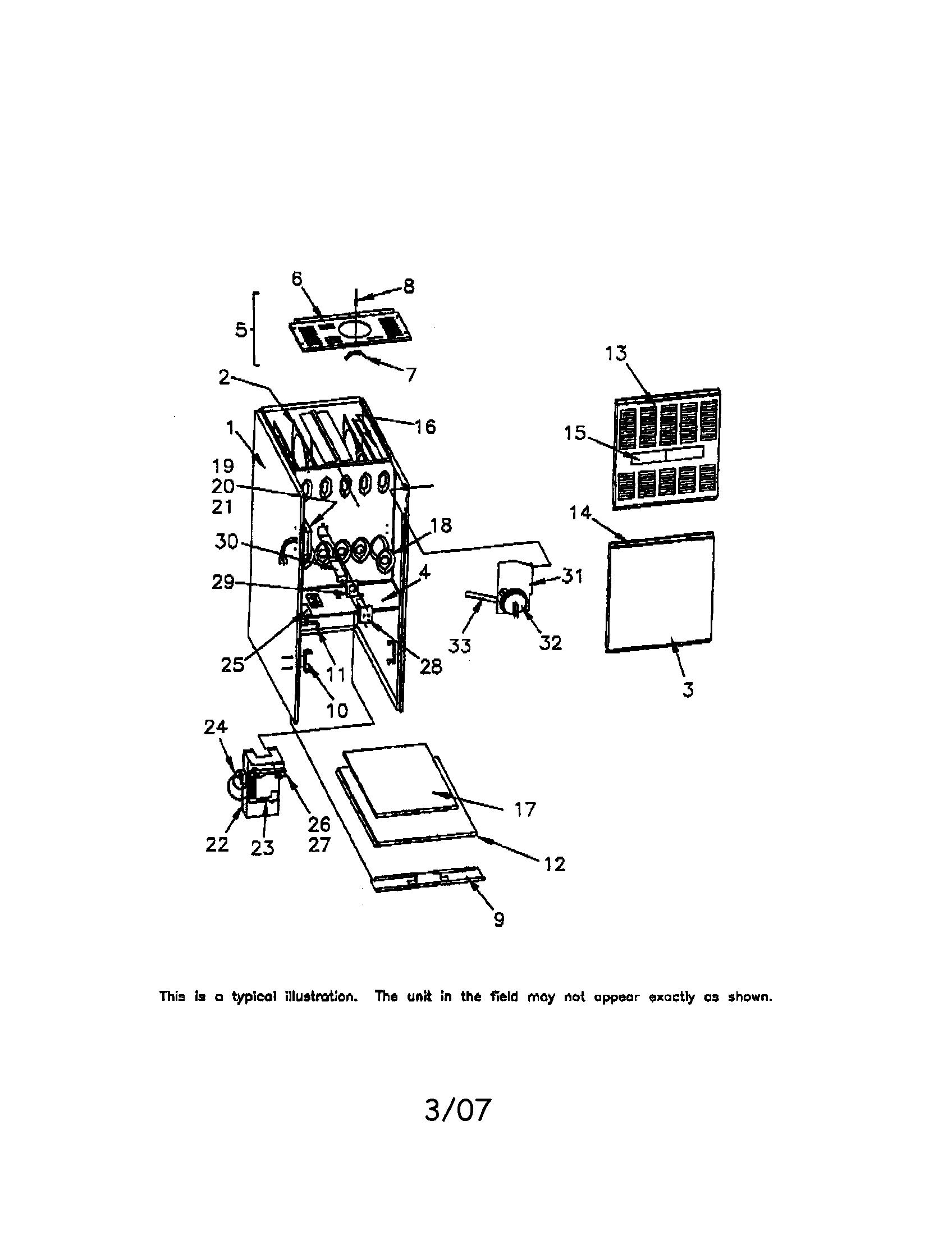 Trane model TUD100C945H1 furnace/heater, gas genuine parts