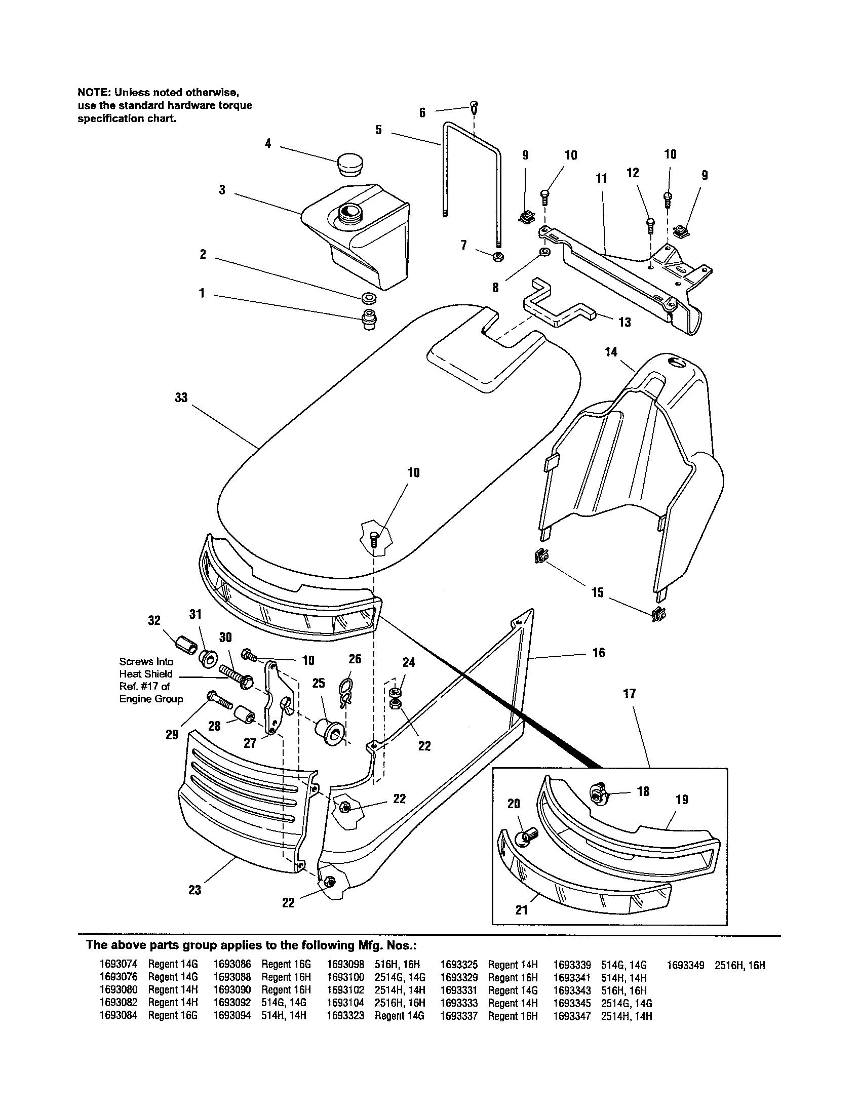 Simplicity model 1693343 lawn, tractor genuine parts