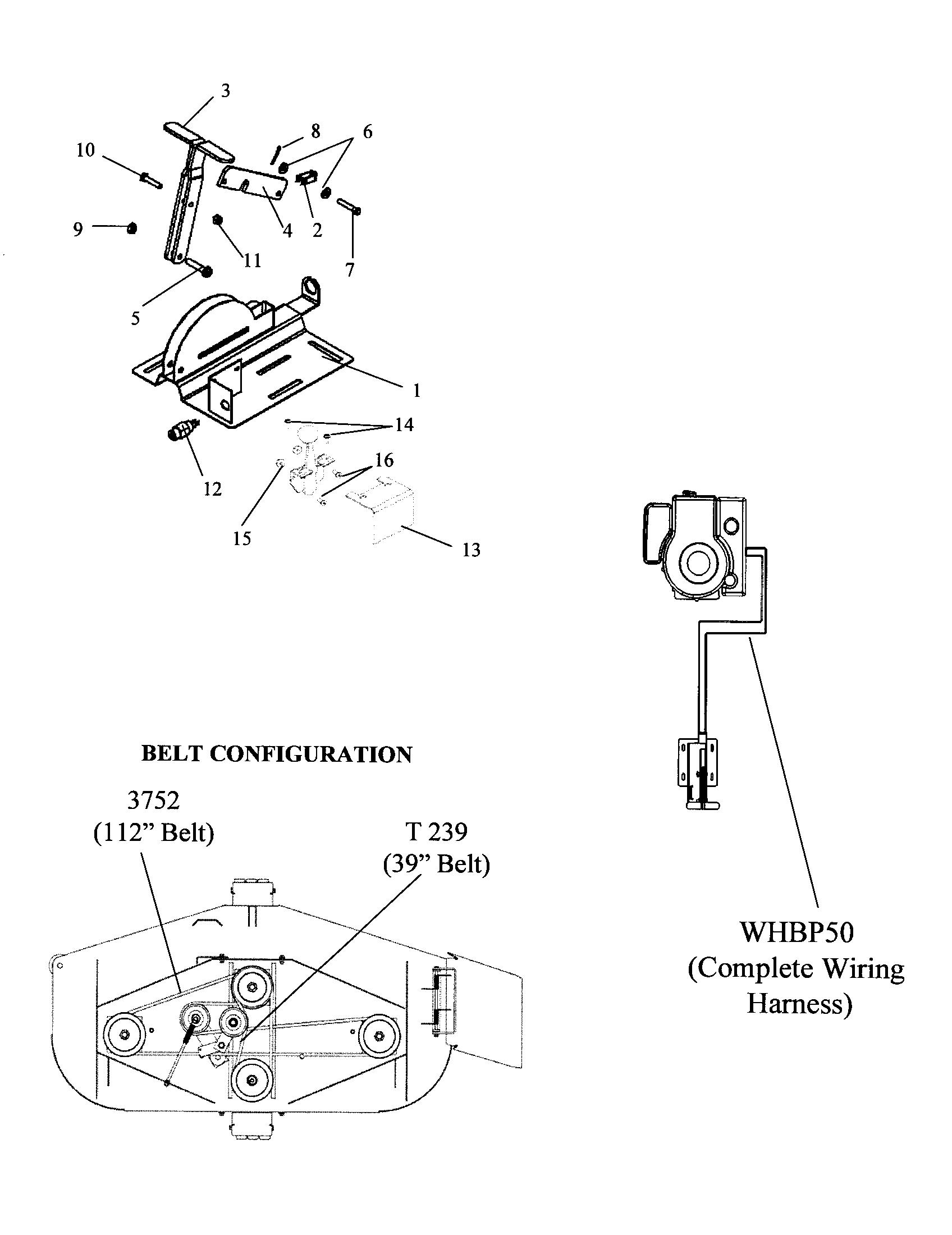 Swisher model FT1150 mower deck genuine parts
