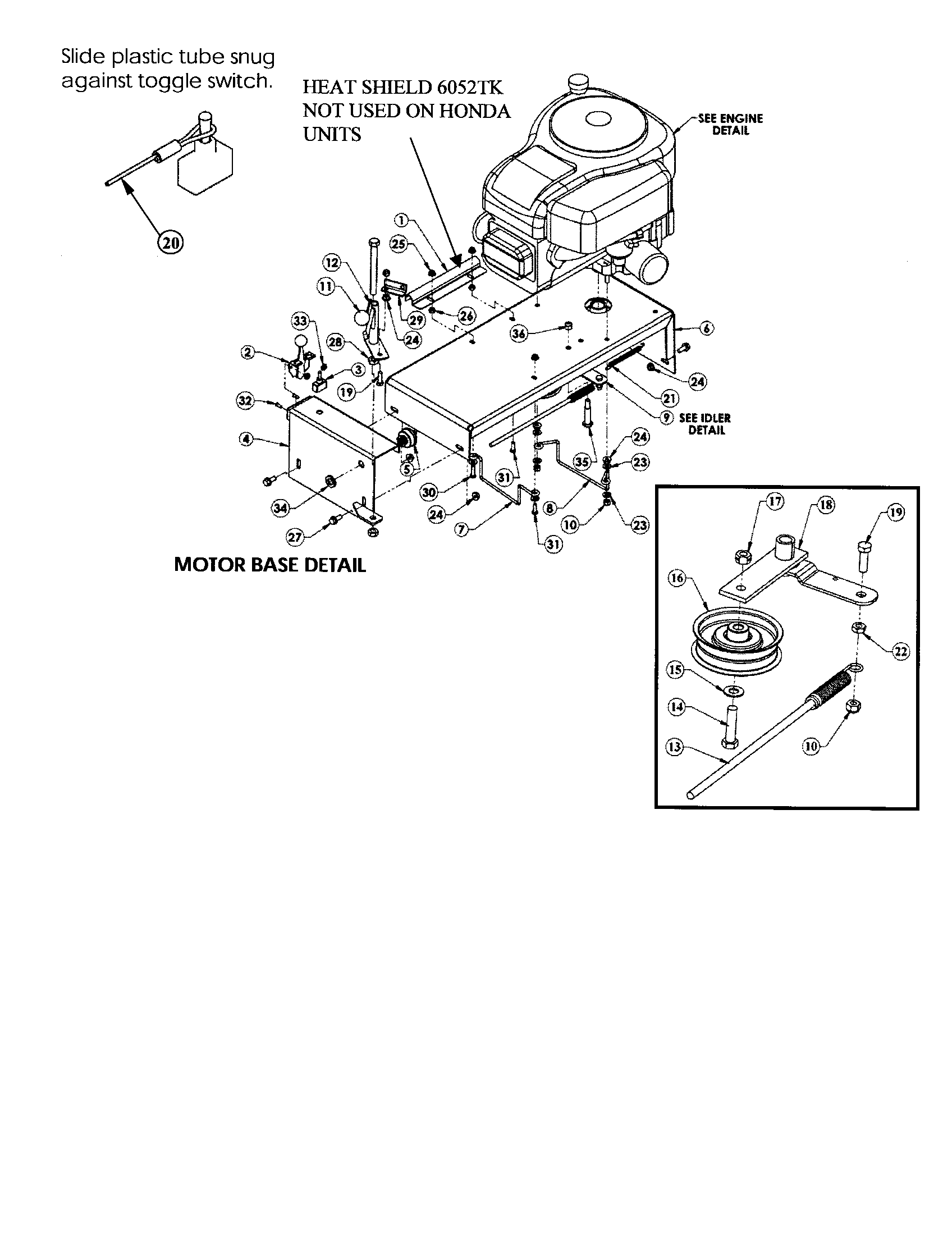 Swisher model T13560 mower deck genuine parts