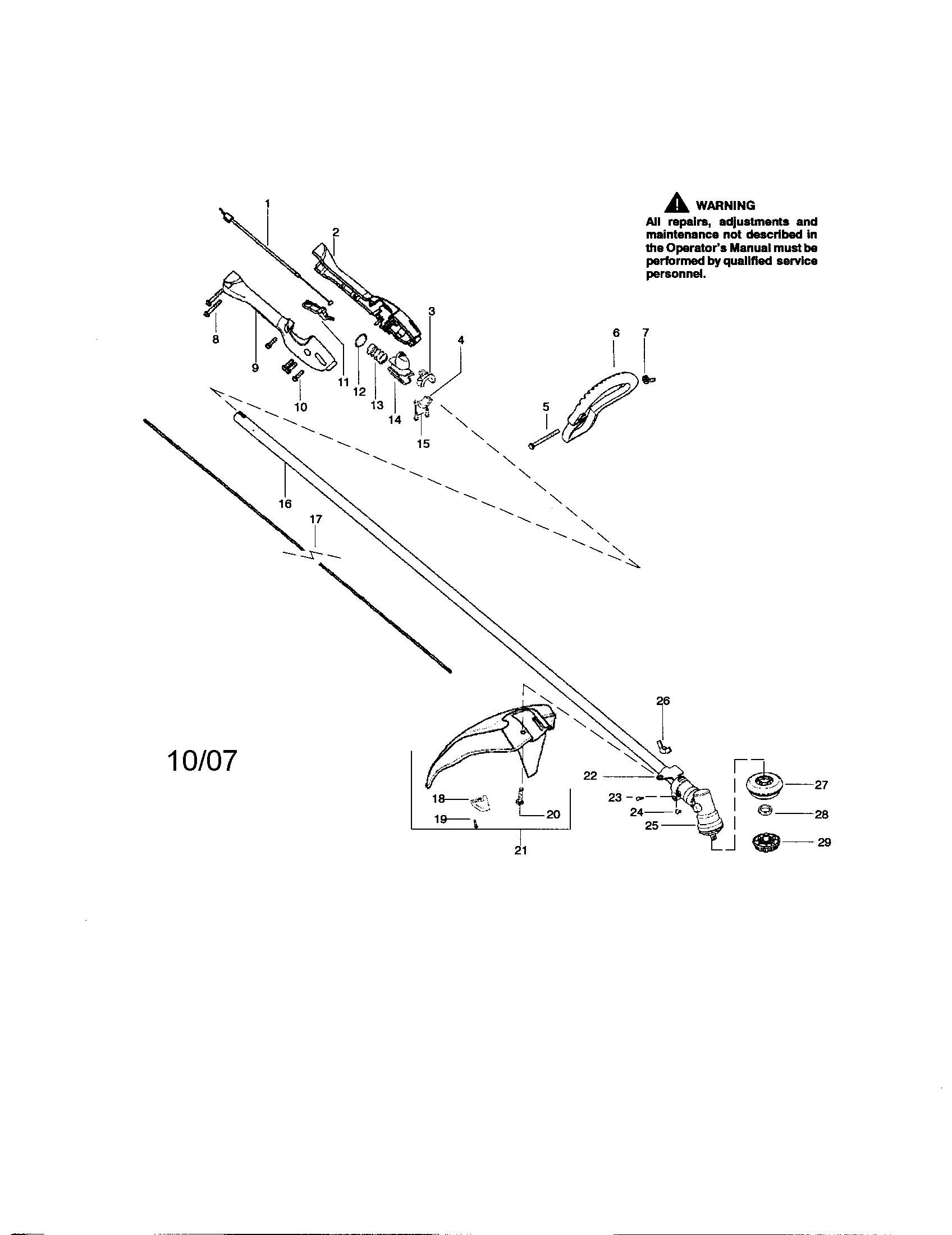Craftsman Weed Wacker Fuel Line Diagram Craftsman Weed