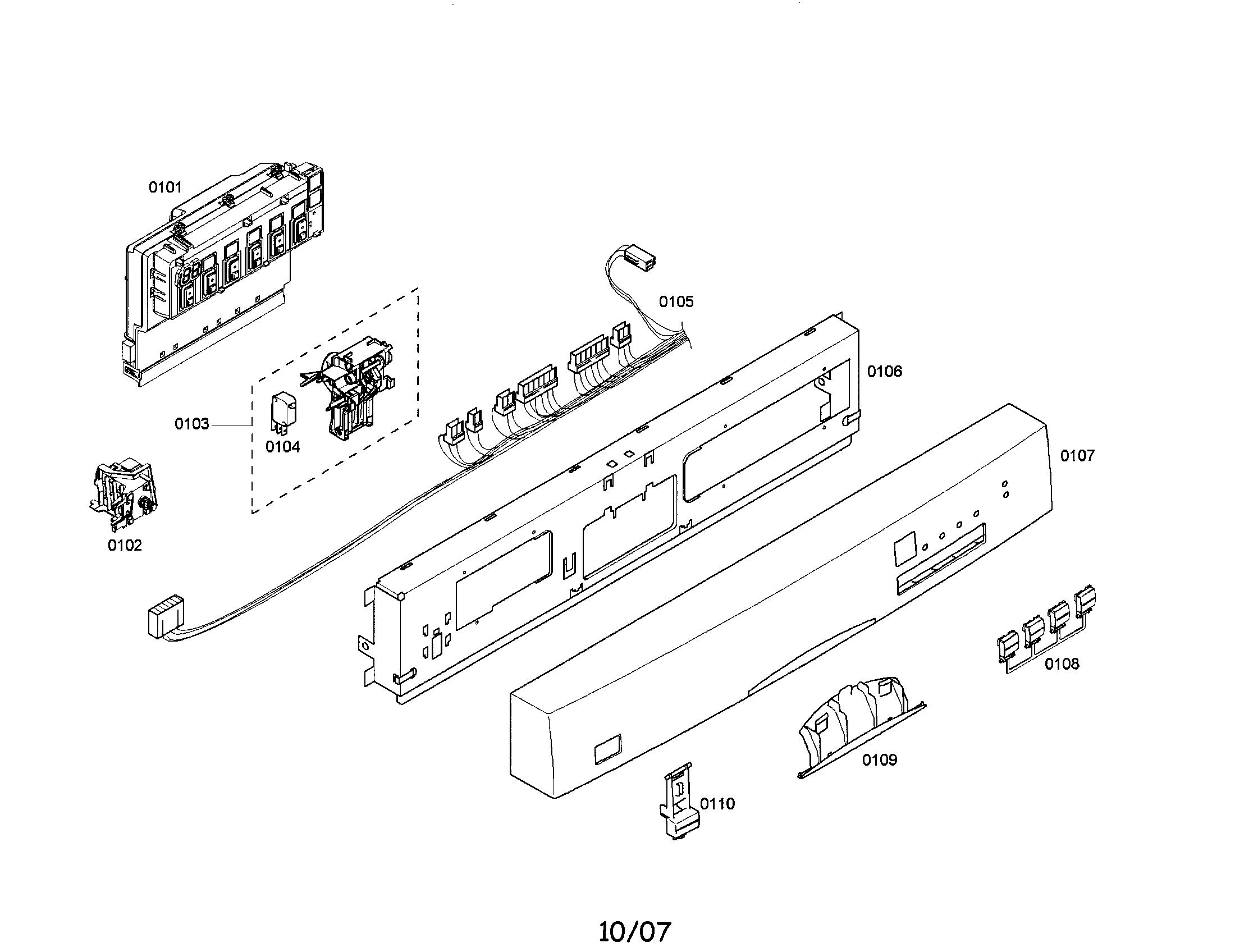 Bosch model SHE44C02UC/22 dishwasher genuine parts