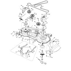 Craftsman Lawn Tractor Parts Diagram Mott Flail Mower Model 917287420 Sears Partsdirect