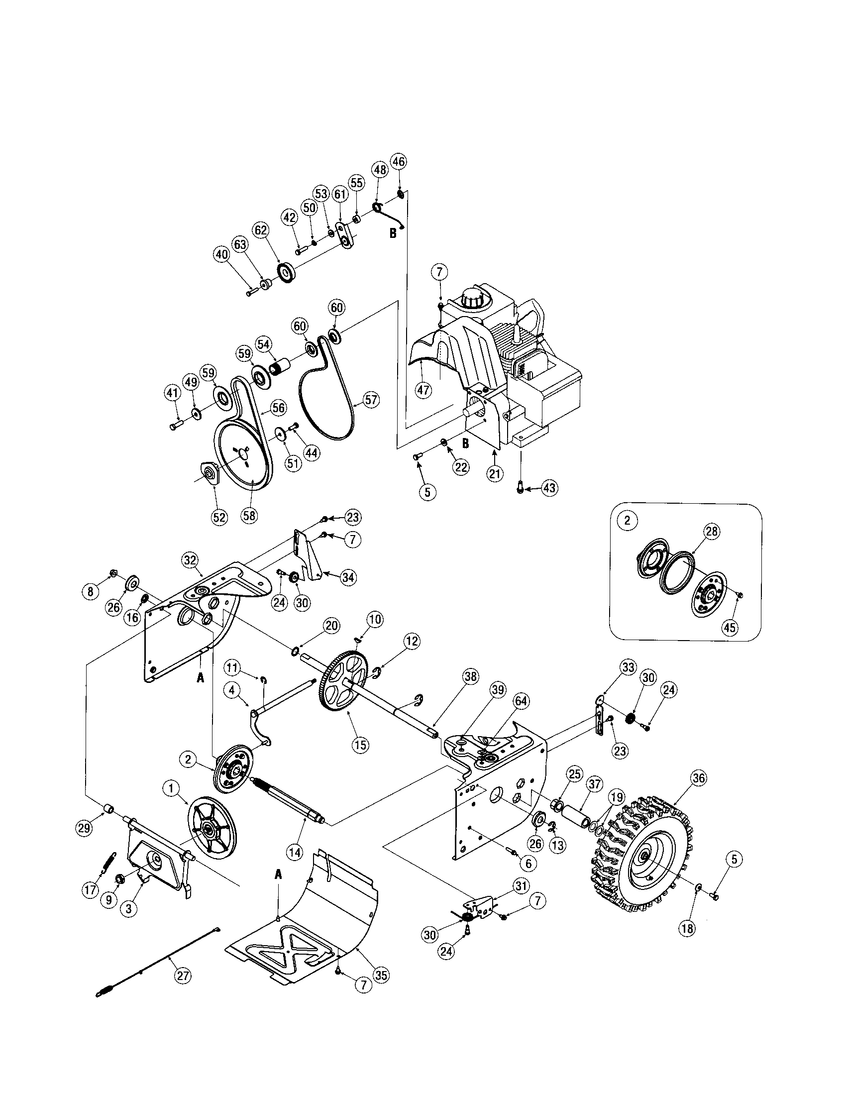 Craftsman model 247883550 snowthrower, gas genuine parts