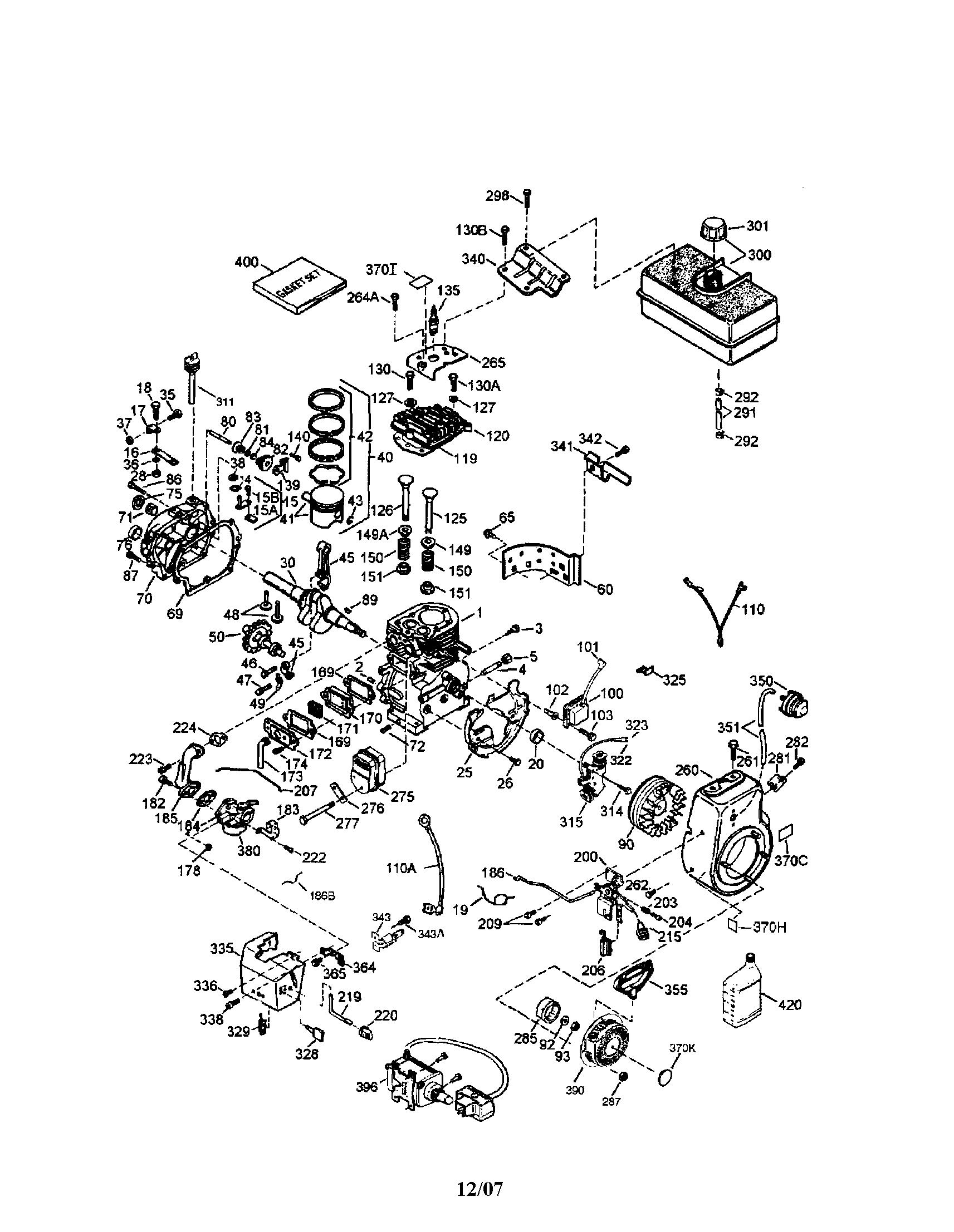 Tecumseh model LH318SA-156587H engine genuine parts