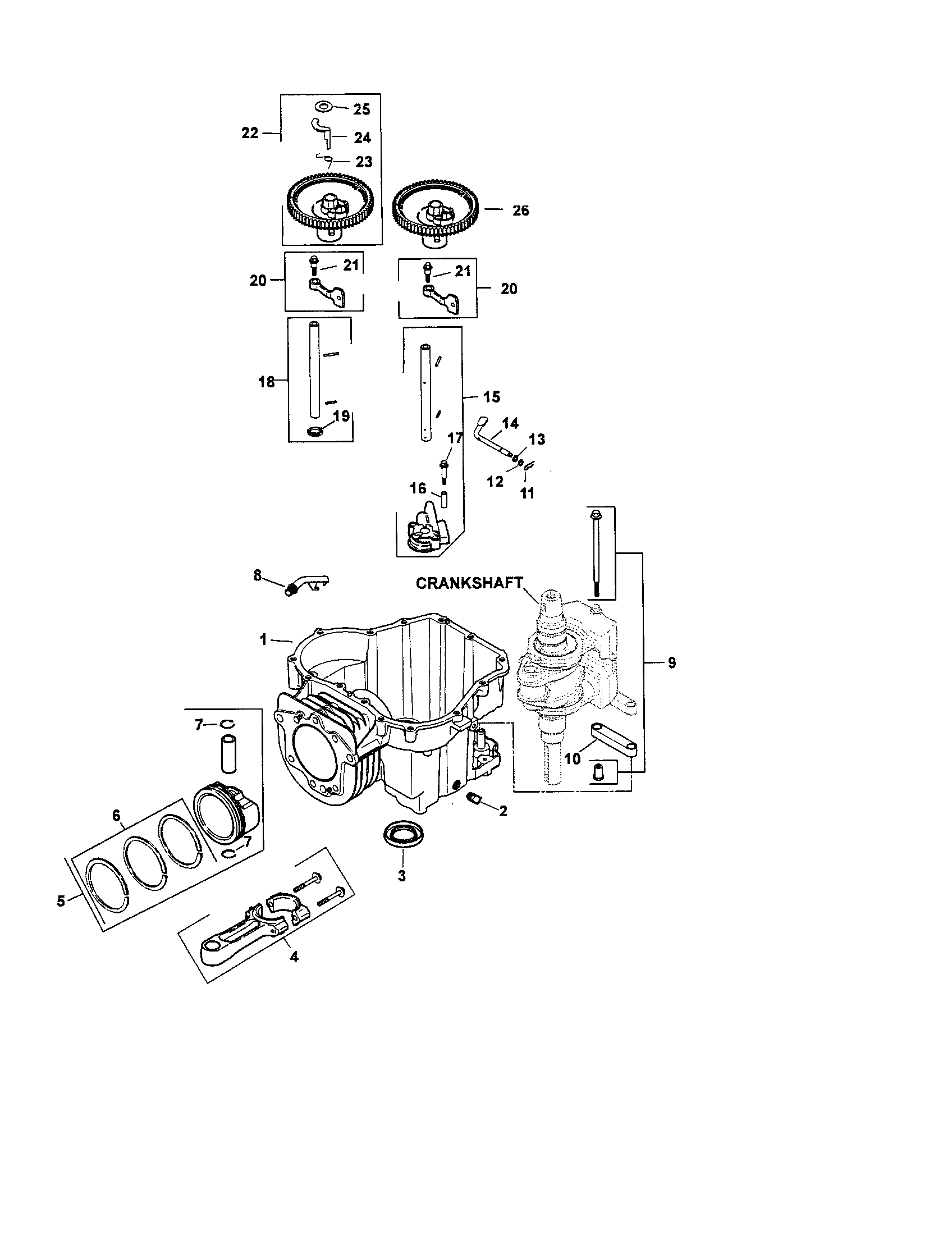 Kohler model SV620-0018 engine genuine parts