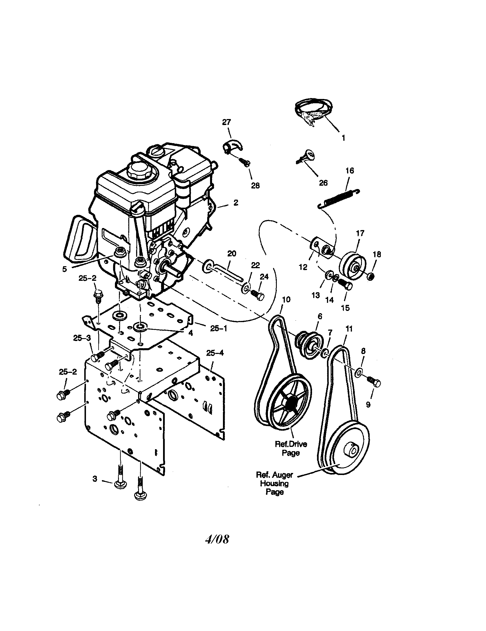Craftsman model 536881851 snowthrower, gas genuine parts
