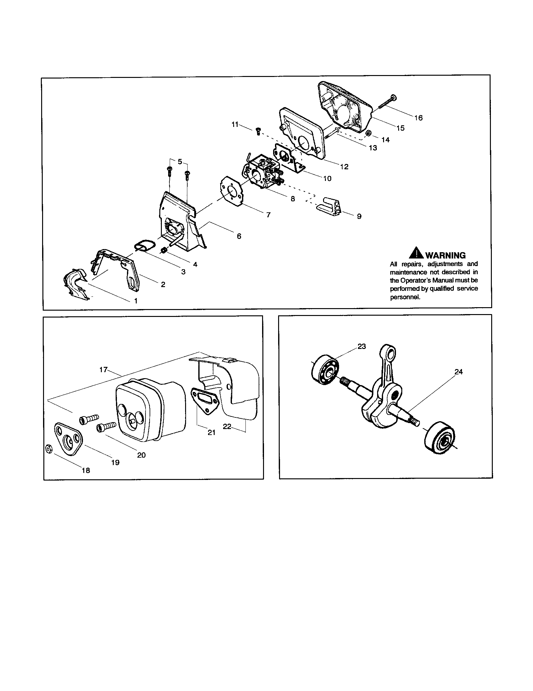 Husqvarna 440 Chainsaw Parts Manual