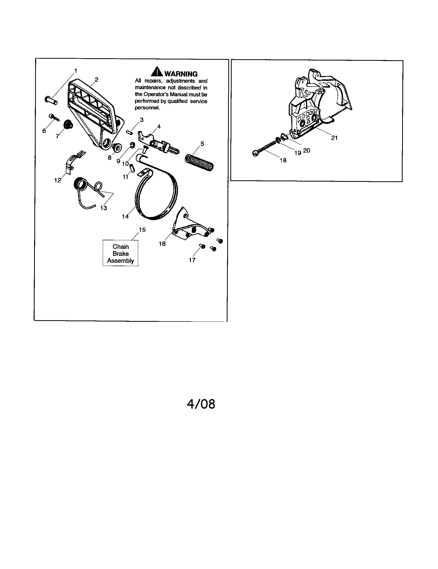Husqvarna model 142 chainsaw, gas genuine parts