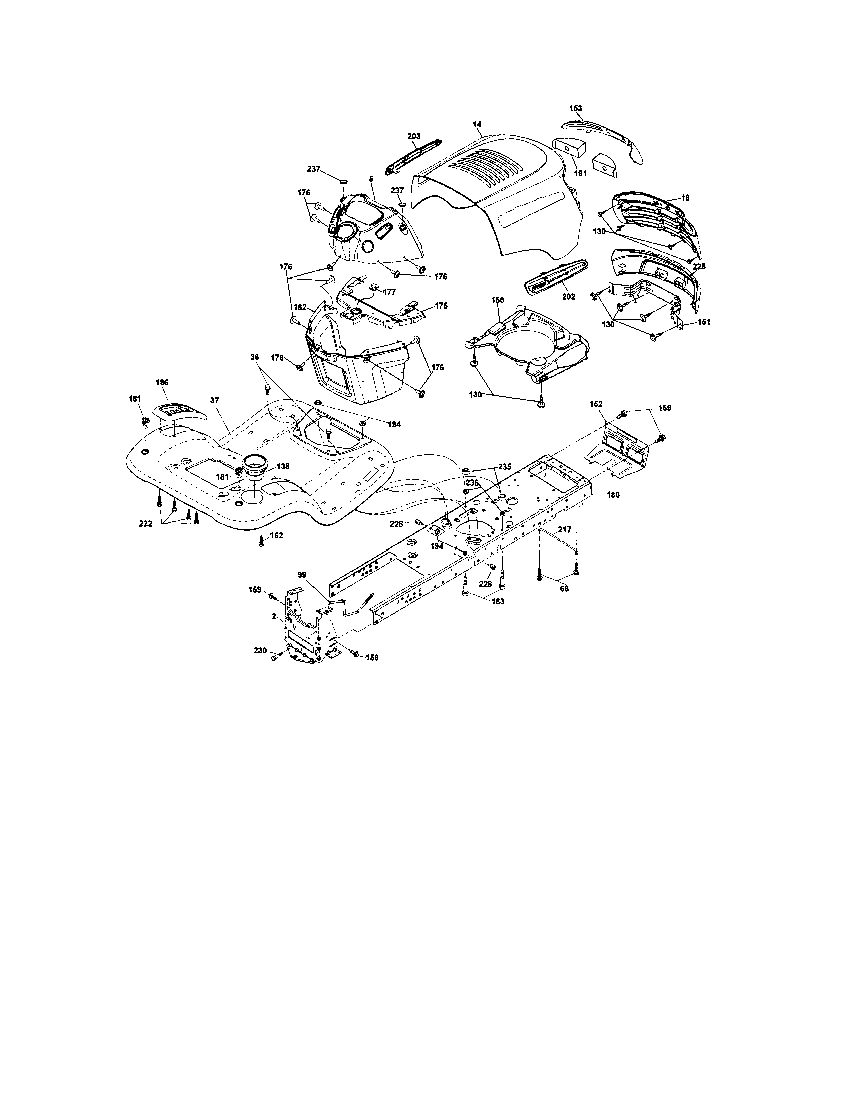 Craftsman model 917287120 lawn, tractor genuine parts