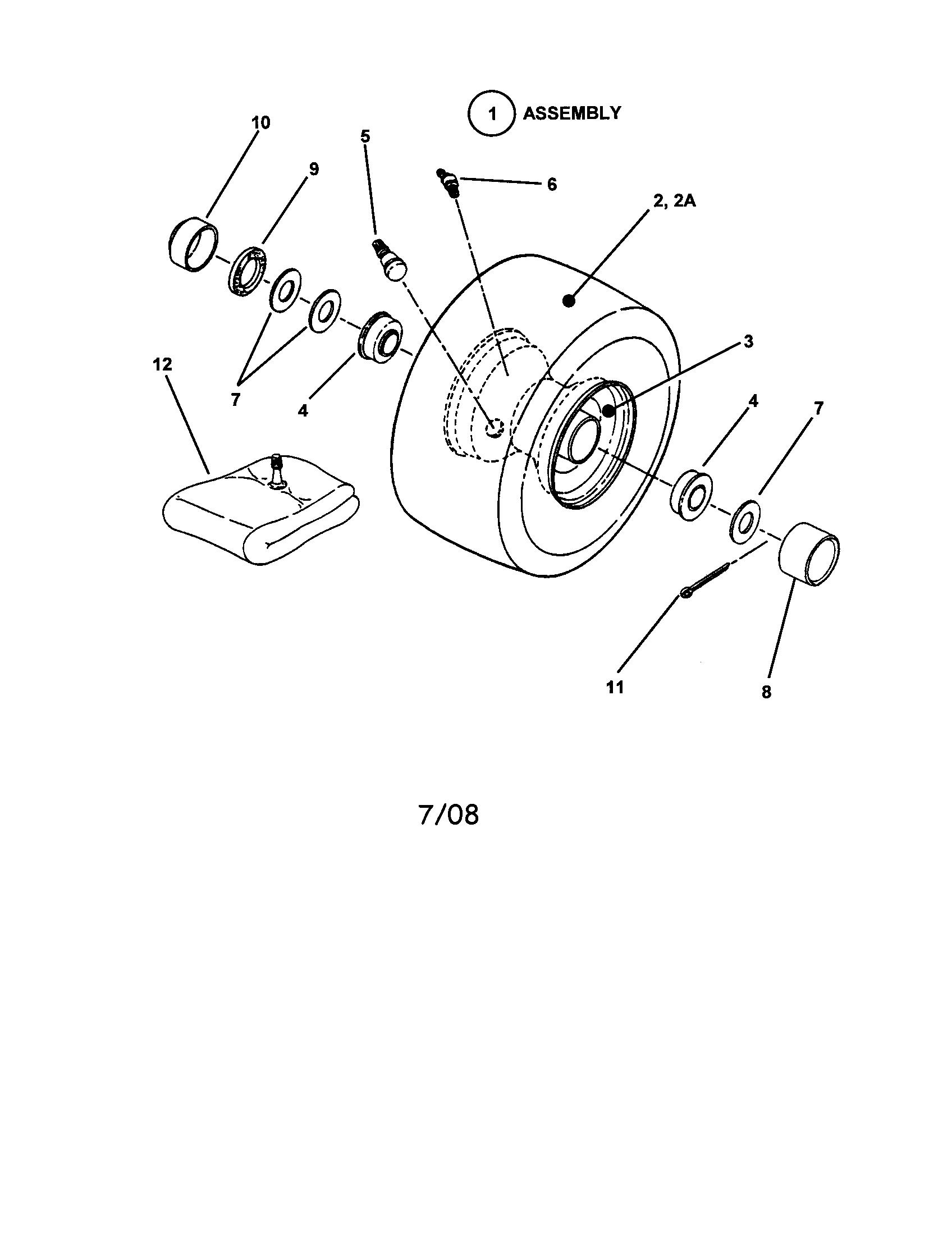 Snapper model 331416BVE lawn, riding mower rear engine