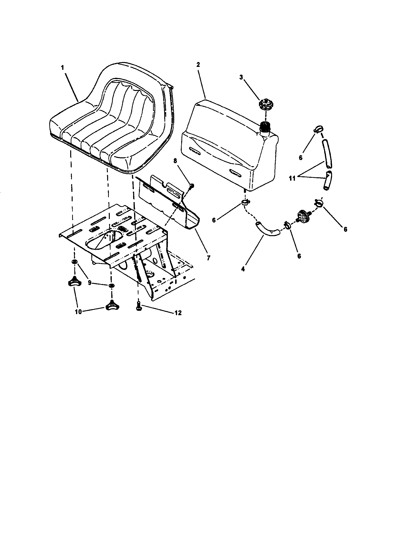 Snapper model M280919B lawn, riding mower rear engine