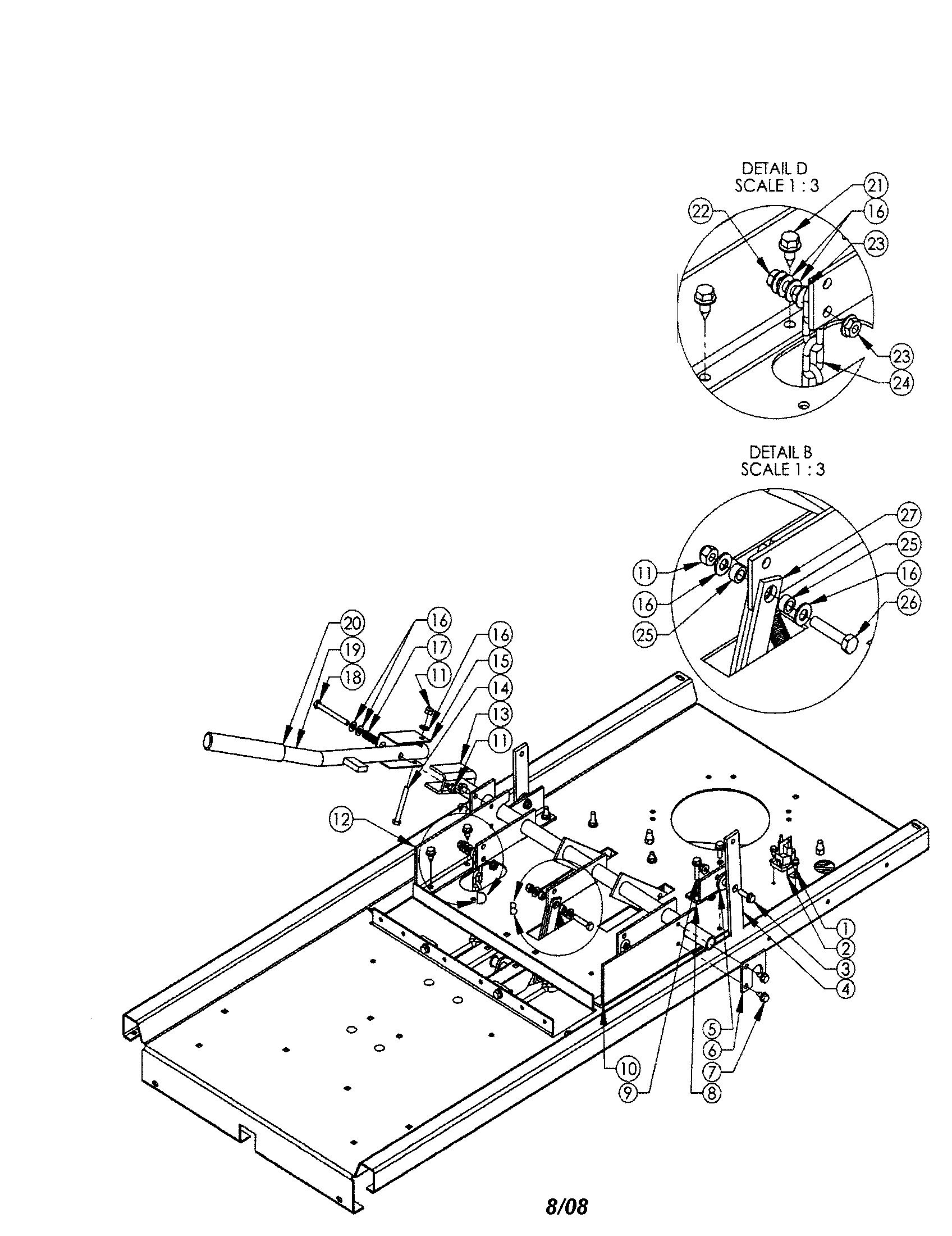 Swisher model ZT2766 lawn, riding mower rear engine