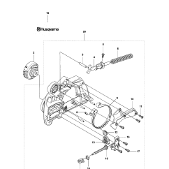 Husqvarna 240 Chainsaw Parts Diagram 4 Round Trailer Plug Wiring Model Gas Genuine Chain Brake