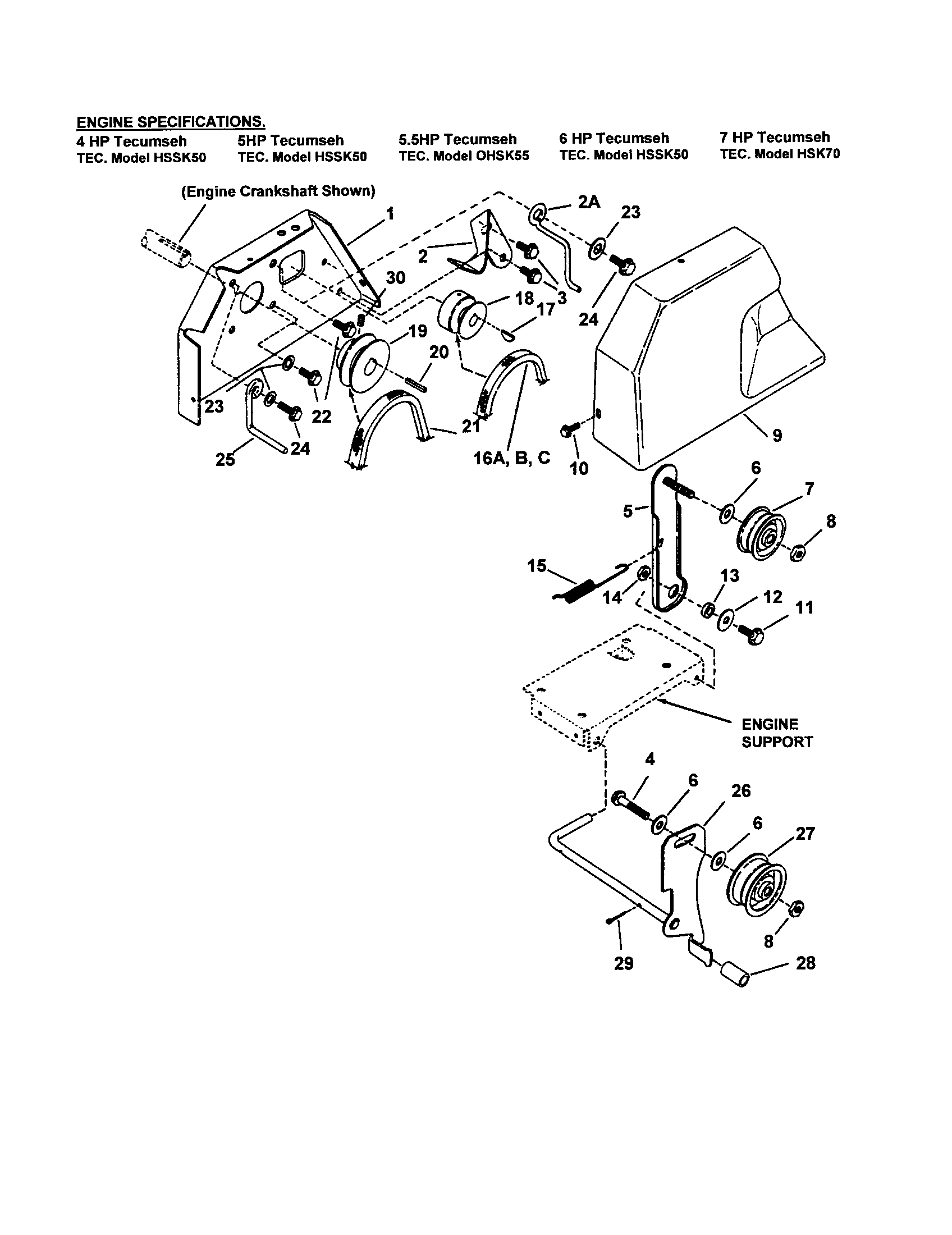 Snapper model I7243 snowthrower, gas genuine parts