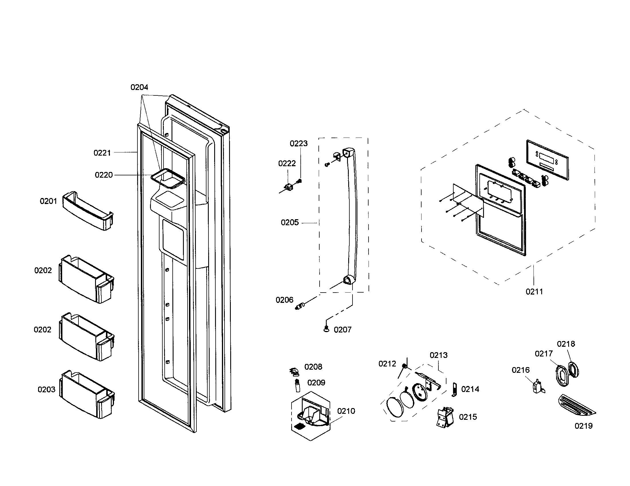 Bosch model B20CS81SNB/02 side-by-side refrigerator