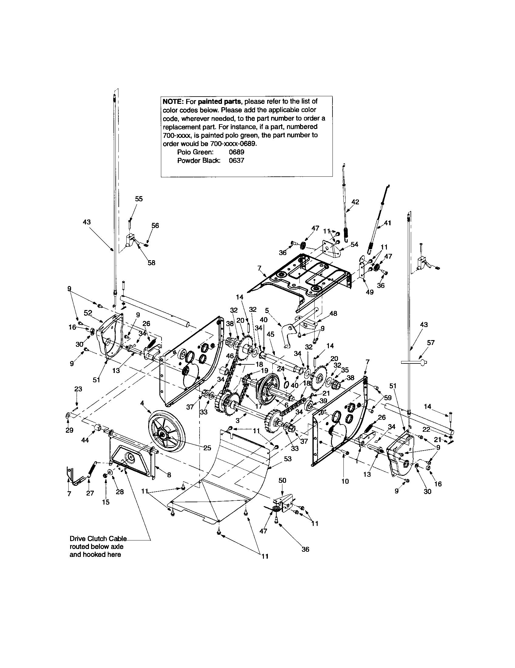 Craftsman model 247888530 snowthrower, gas genuine parts