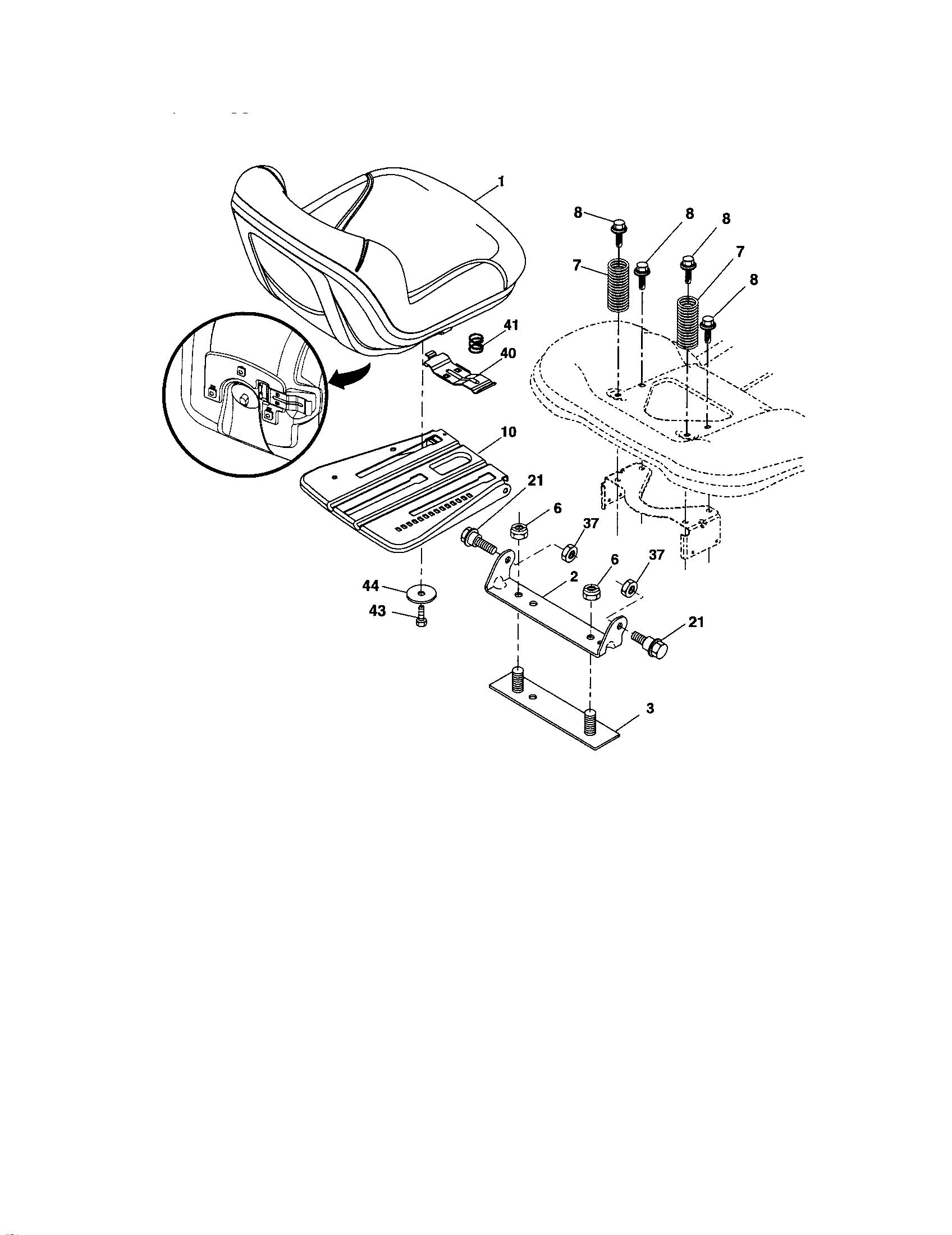 Craftsman model 917288210 lawn, tractor genuine parts