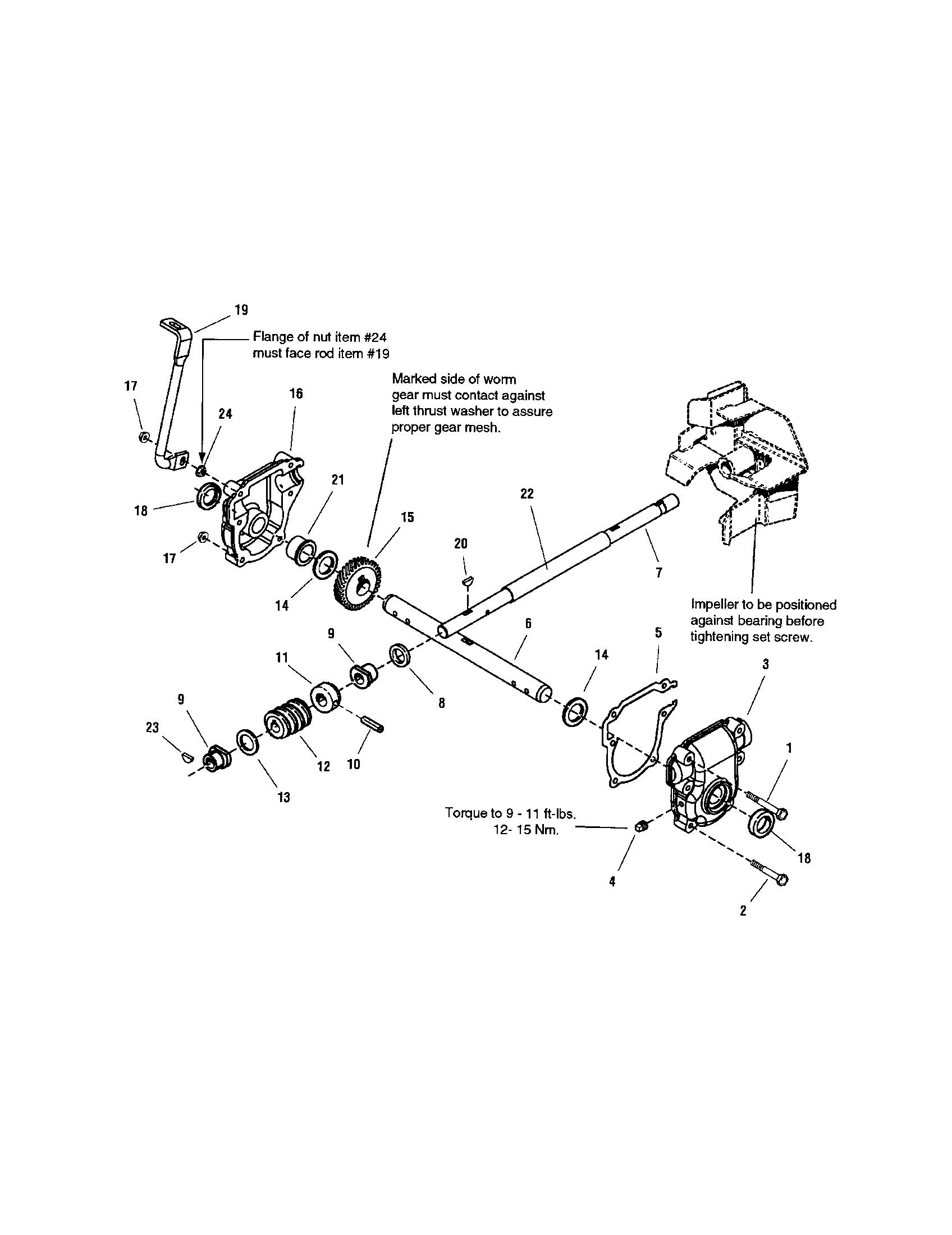 Snapper model L1226E (1695571) snowthrower, gas genuine parts