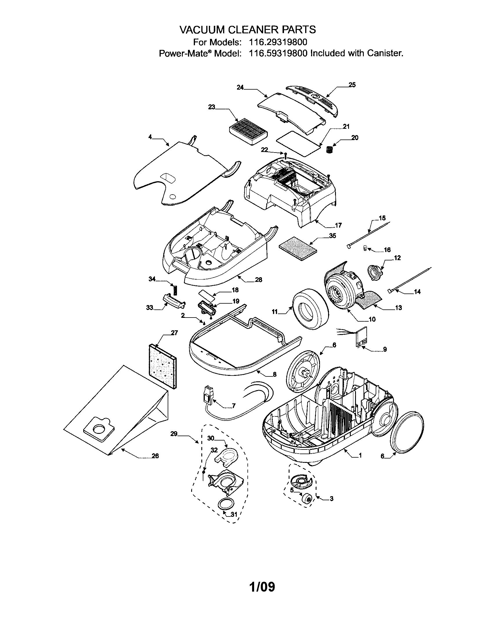Kenmore Vacuum Cleaner Manuals
