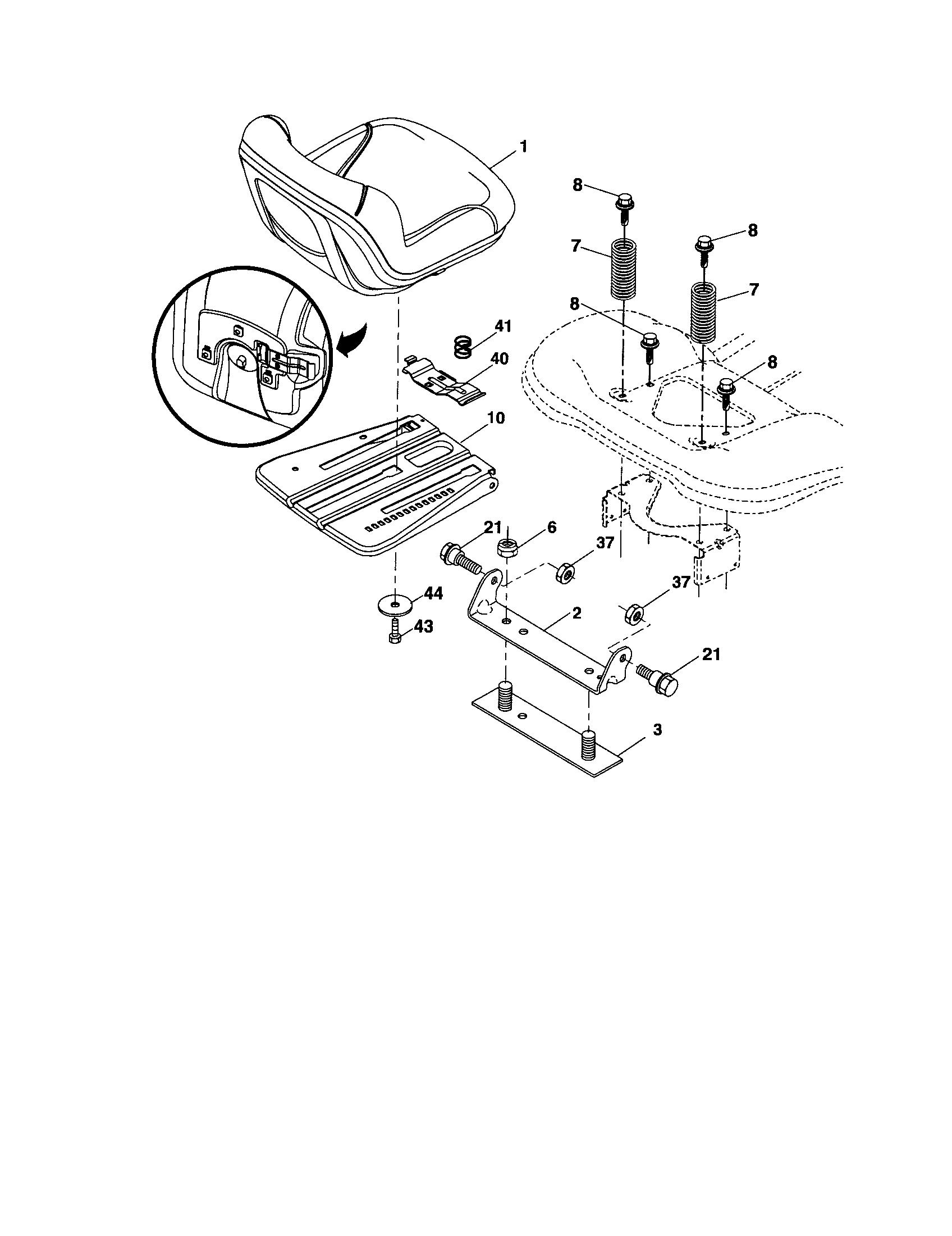 Craftsman model 917289070 lawn, tractor genuine parts