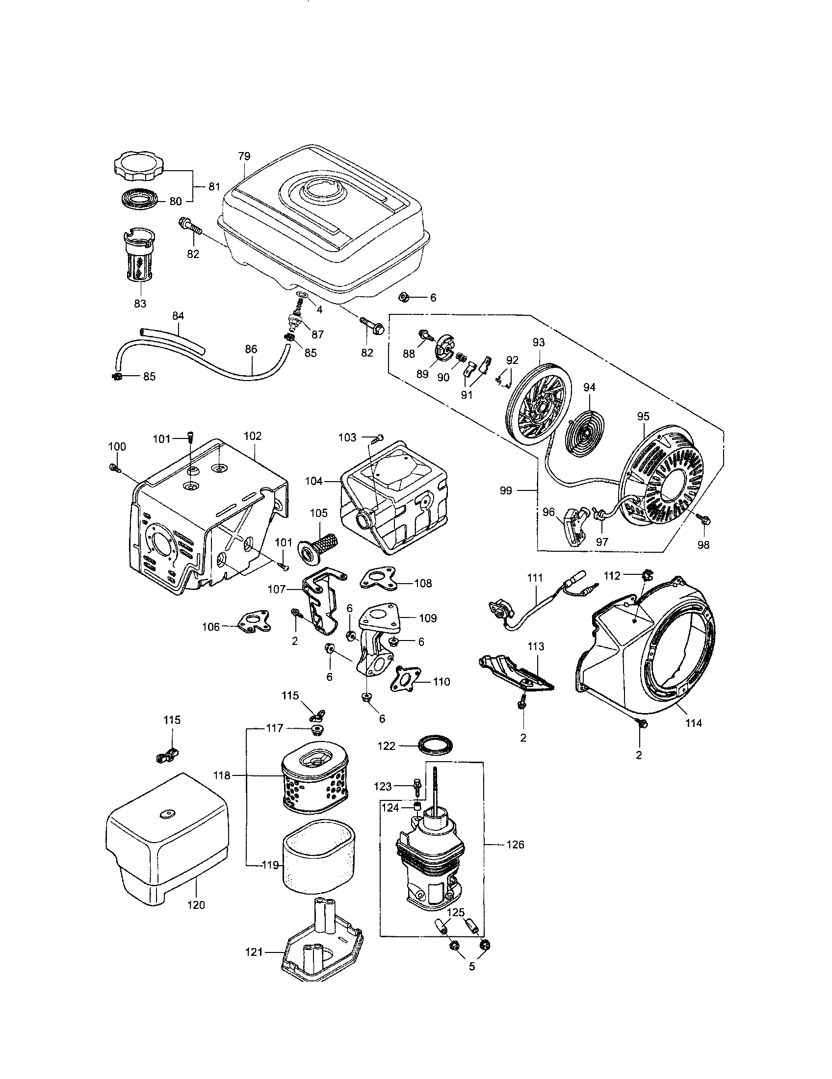 Honda model GX390UT1 engine genuine parts