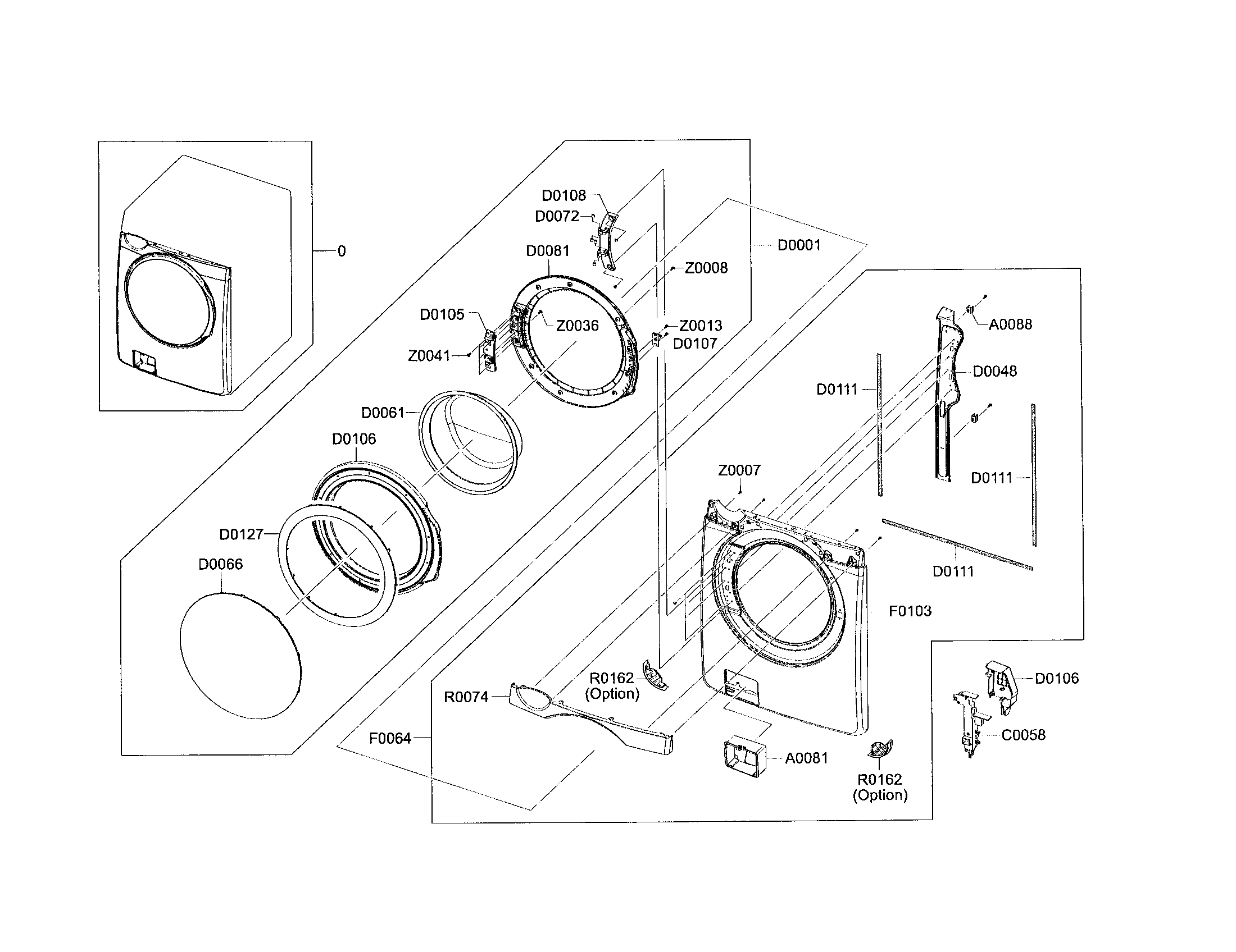 Samsung model WF448AAP/XAC residential washers genuine parts