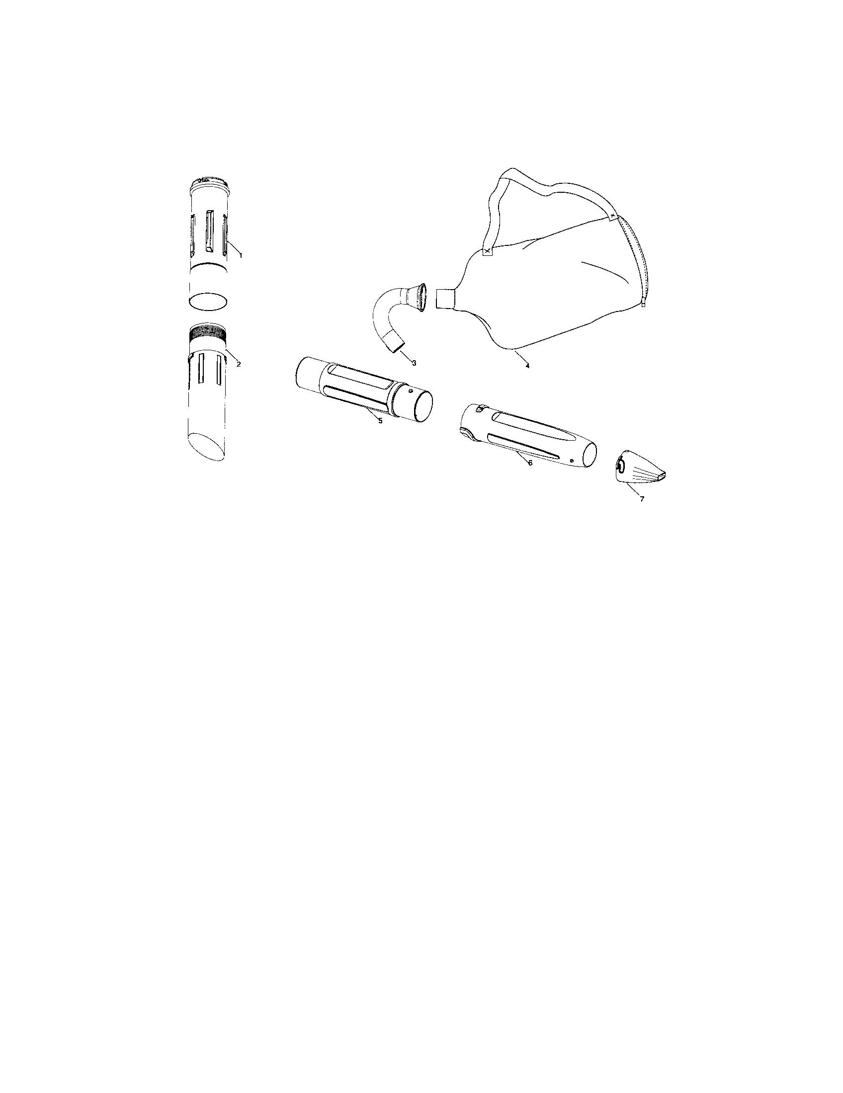 Craftsman model 358794772 blower, gas genuine parts