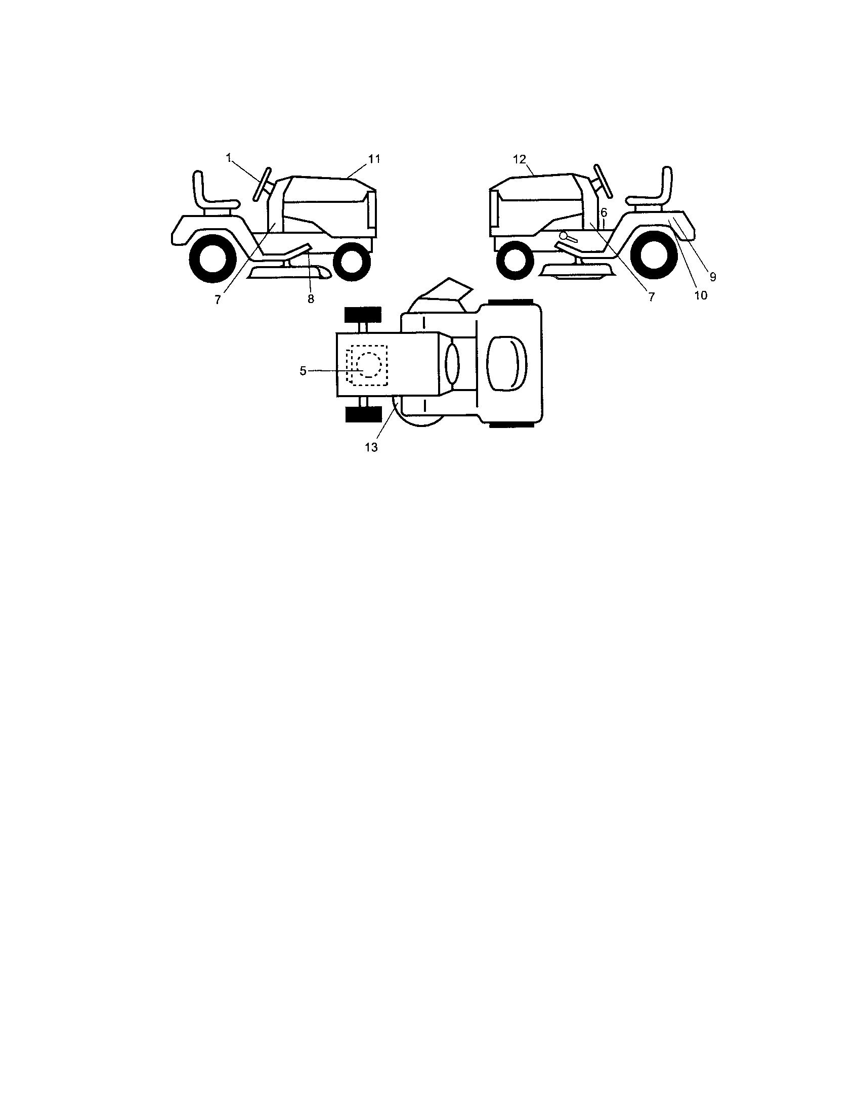 Craftsman model 917289260 lawn, tractor genuine parts