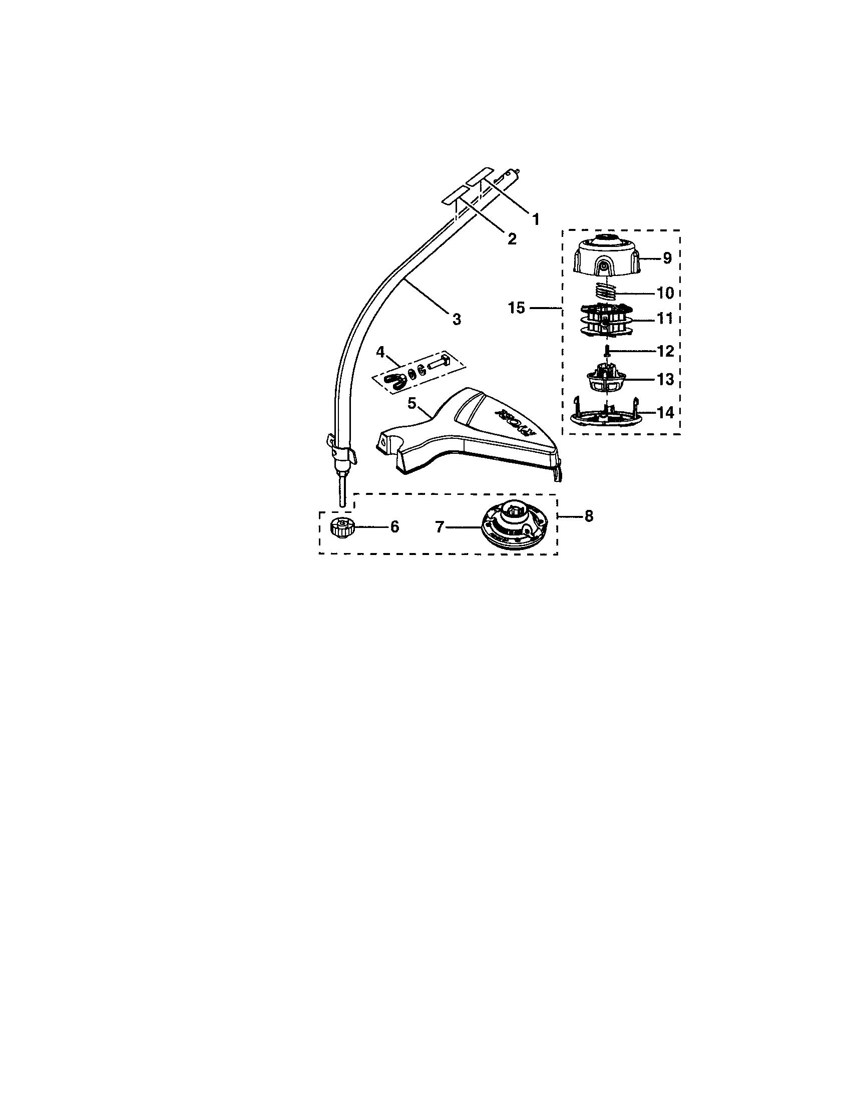 Ryobi model RY30570 line trimmers/weedwackers, gas genuine parts