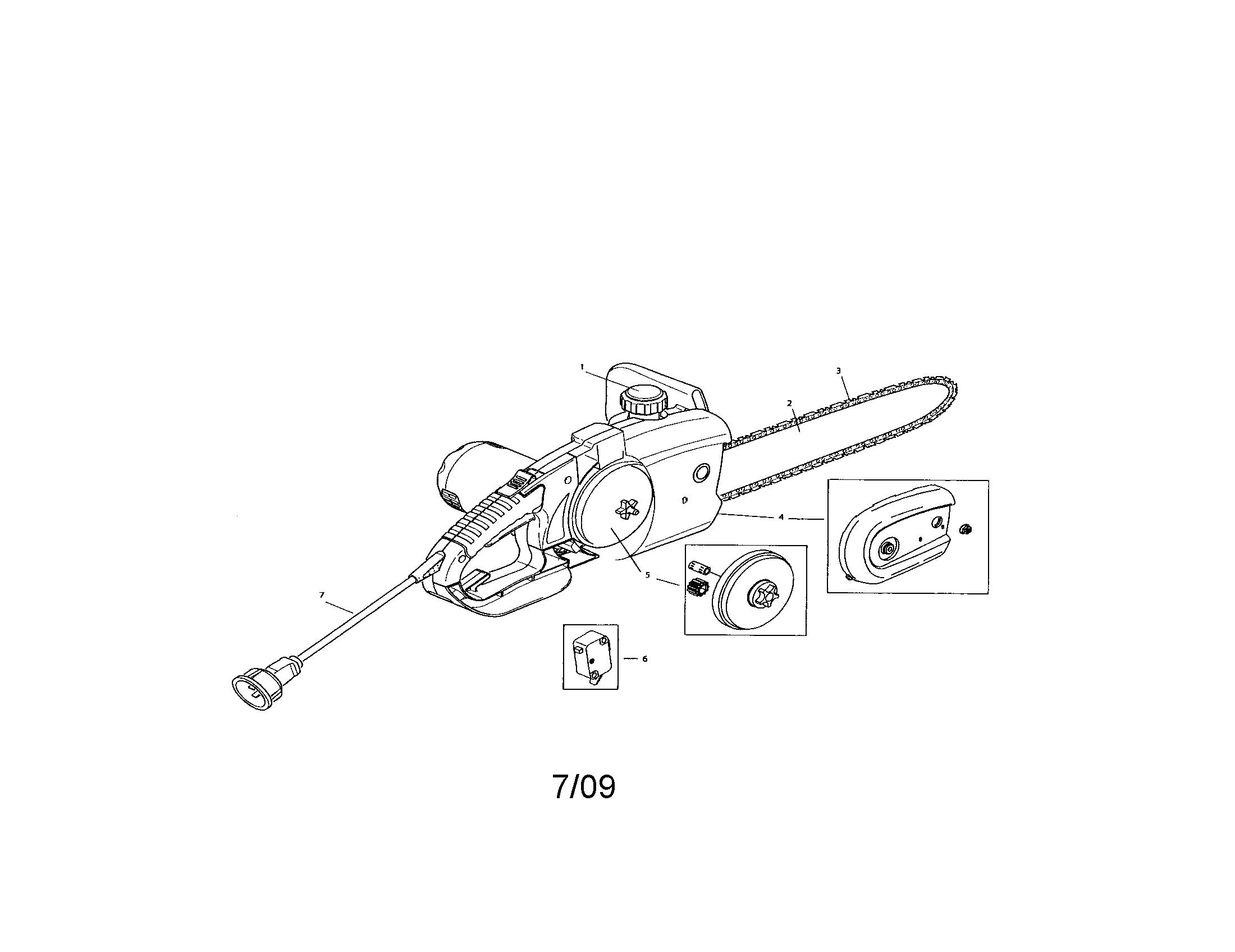 Remington model M30016AS chainsaw, electric genuine parts